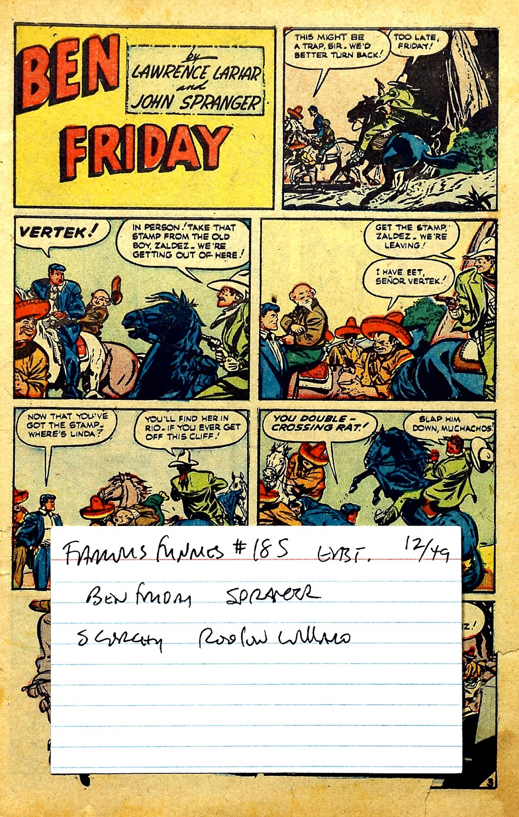 Read online Famous Funnies comic -  Issue #185 - 50