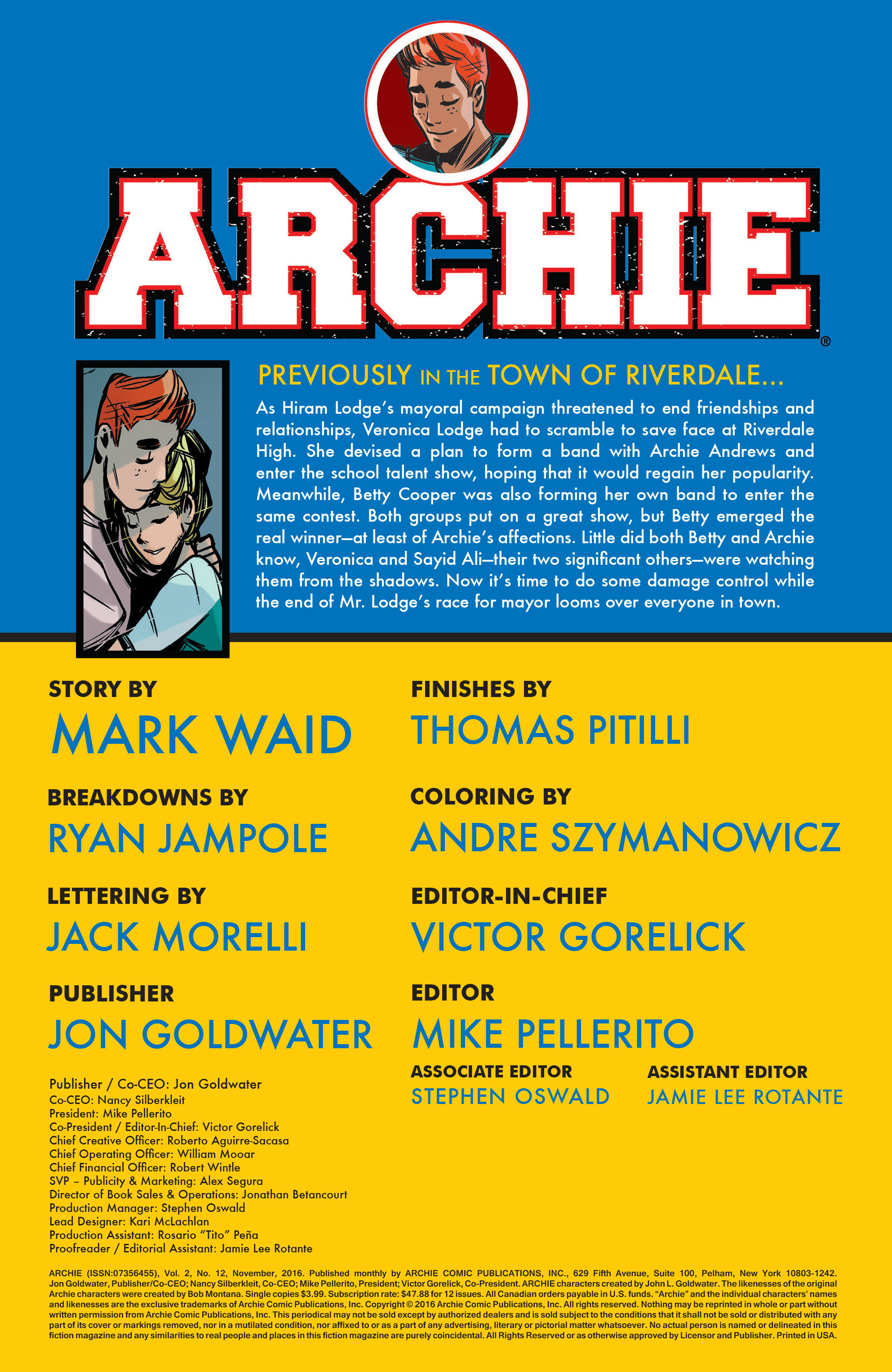Read online Archie (2015) comic -  Issue #12 - 2