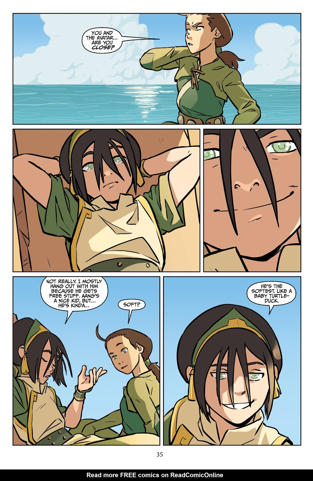 Read online Nickelodeon Avatar: The Last Airbender - Imbalance comic -  Issue # TPB 2 - 36