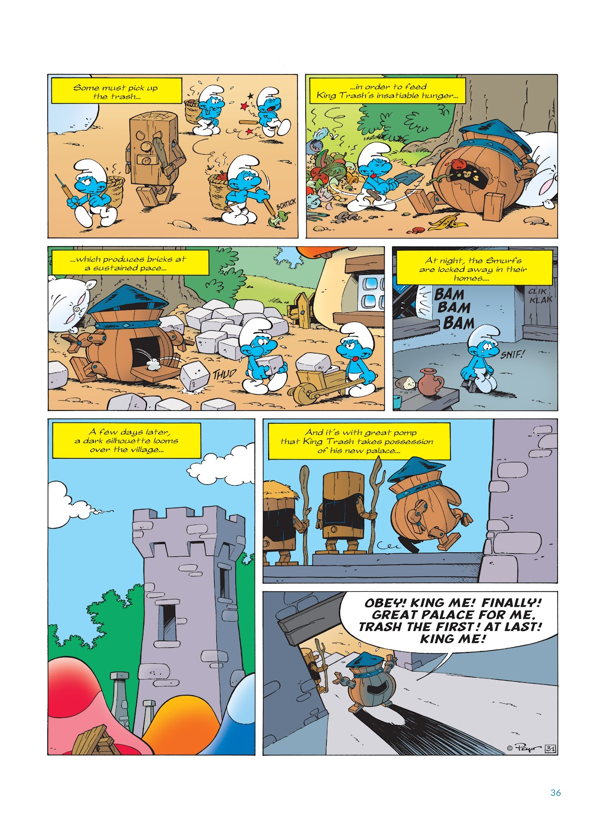 Read online The Smurfs comic -  Issue #23 - 36