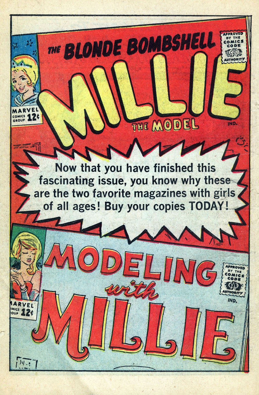 Read online Millie the Model comic -  Issue # Annual 3 - 74