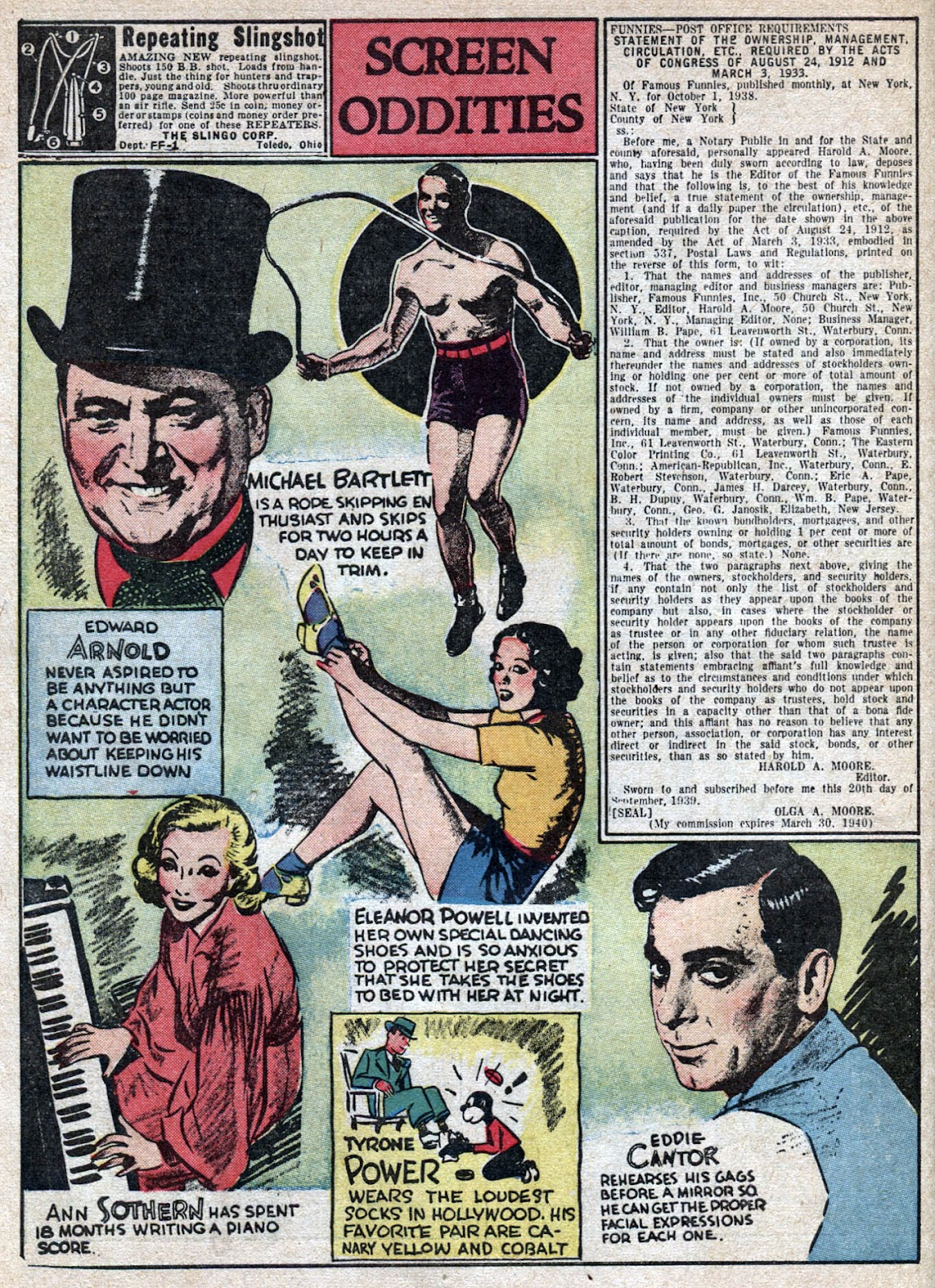 Read online Famous Funnies comic -  Issue #66 - 66