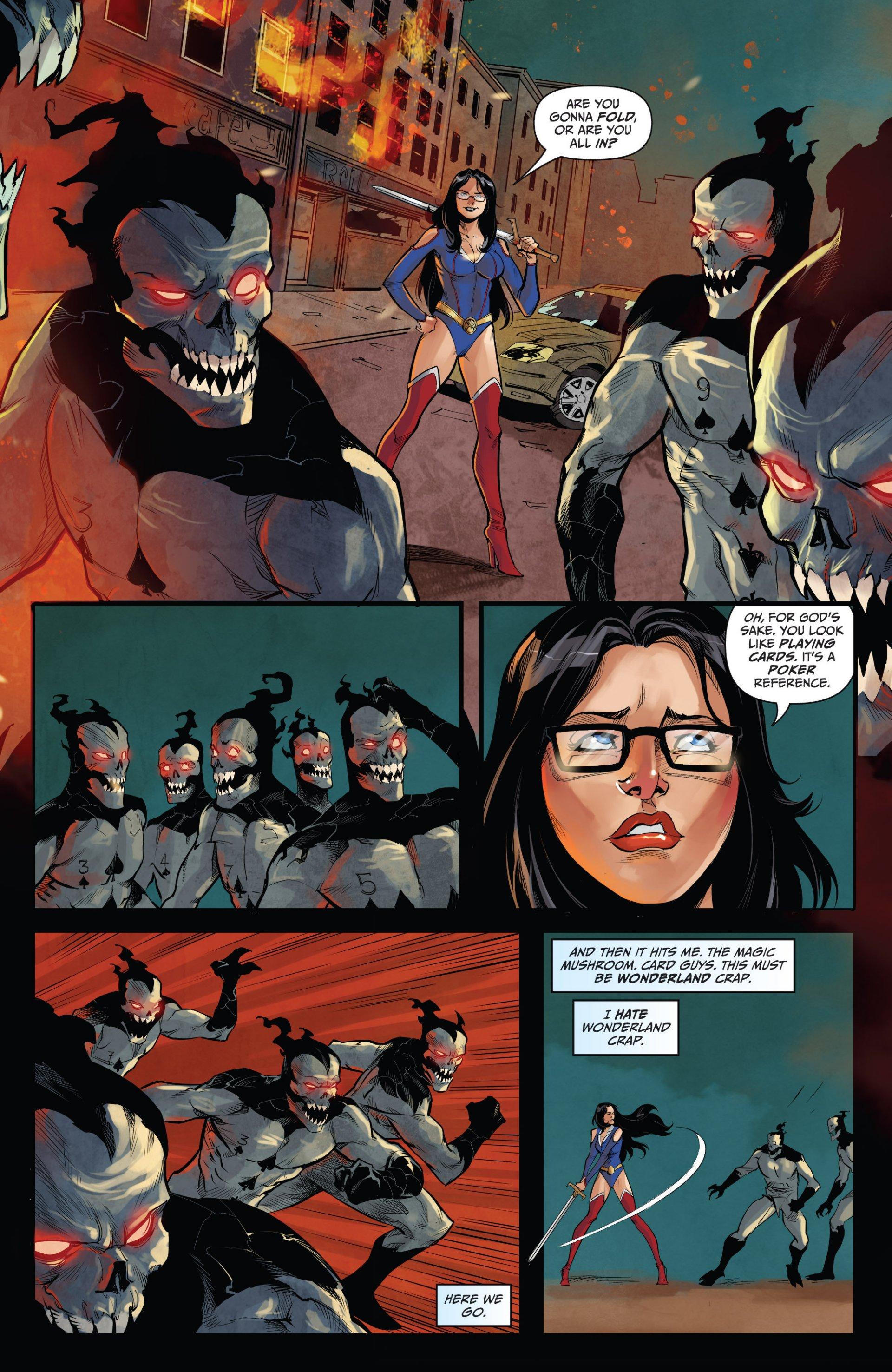 Read online Grimm Fairy Tales vs. Wonderland comic -  Issue #1 - 18