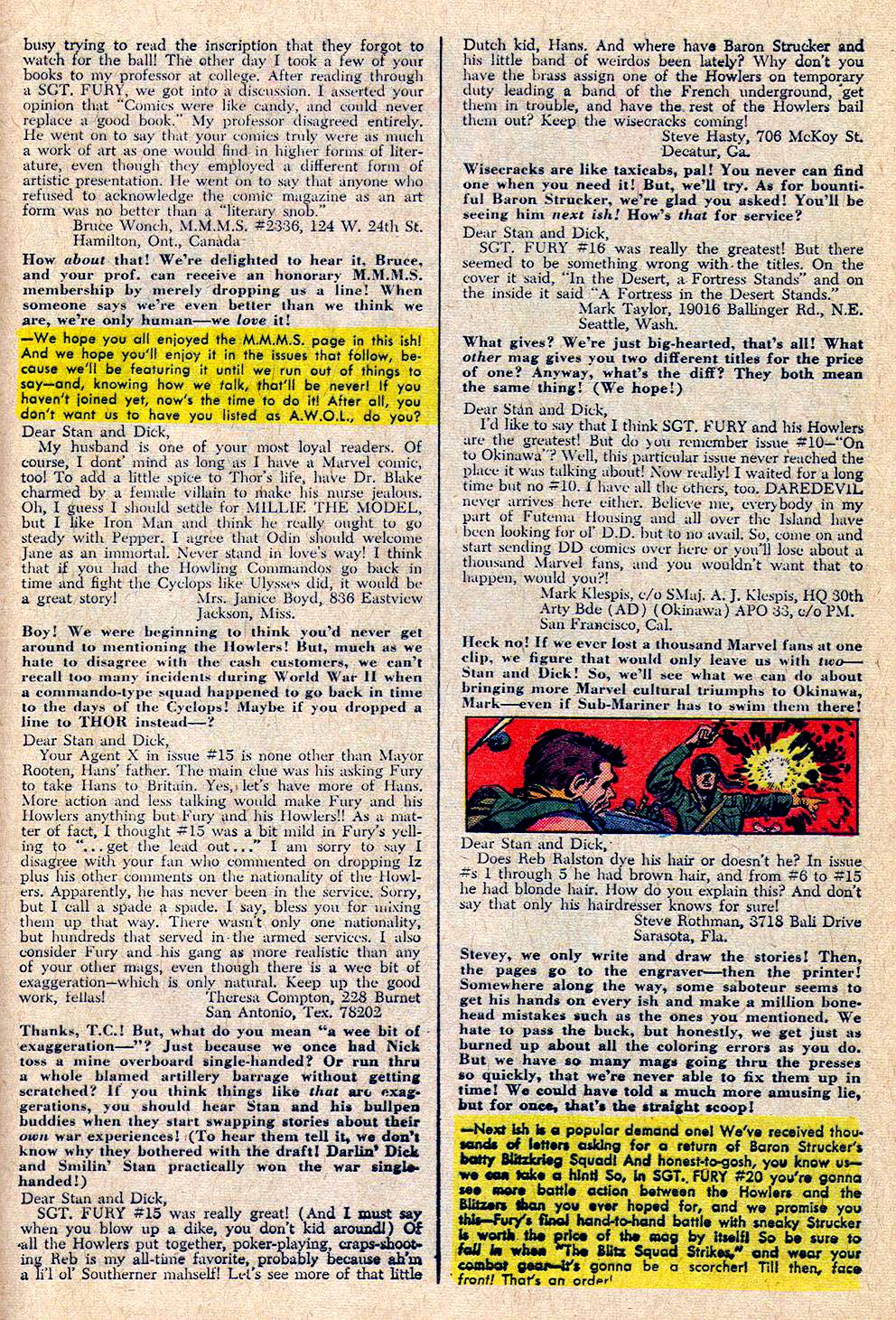 Read online Sgt. Fury comic -  Issue #19 - 33