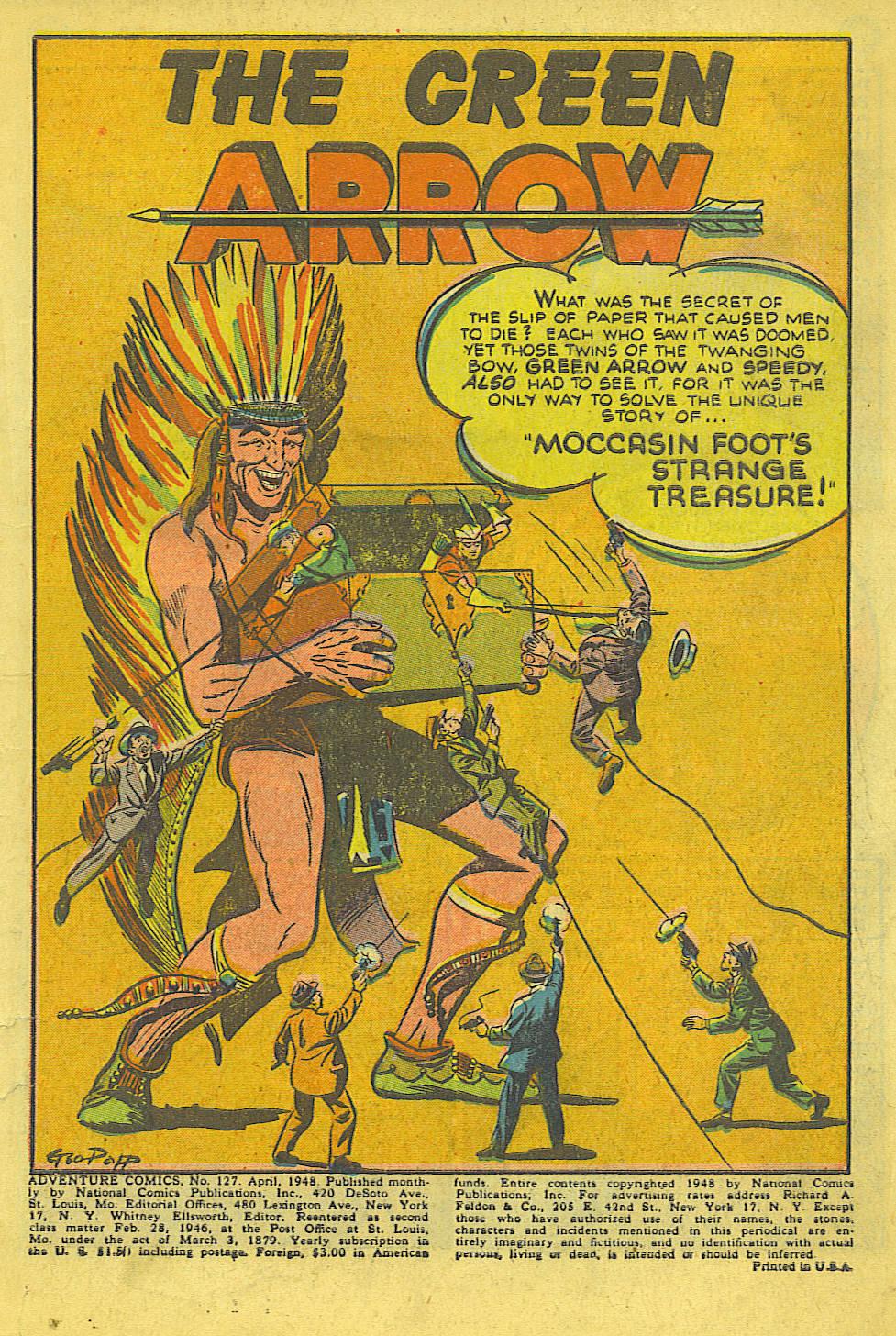 Read online Adventure Comics (1938) comic -  Issue #127 - 2
