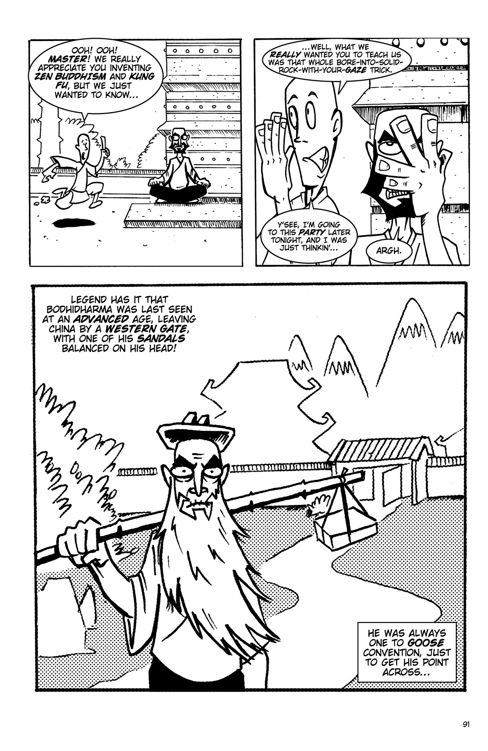 Read online Action Philosophers! comic -  Issue #Action Philosophers! TPB (Part 1) - 91