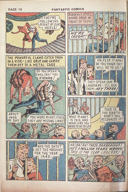 Read online Fantastic Comics comic -  Issue #4 - 20