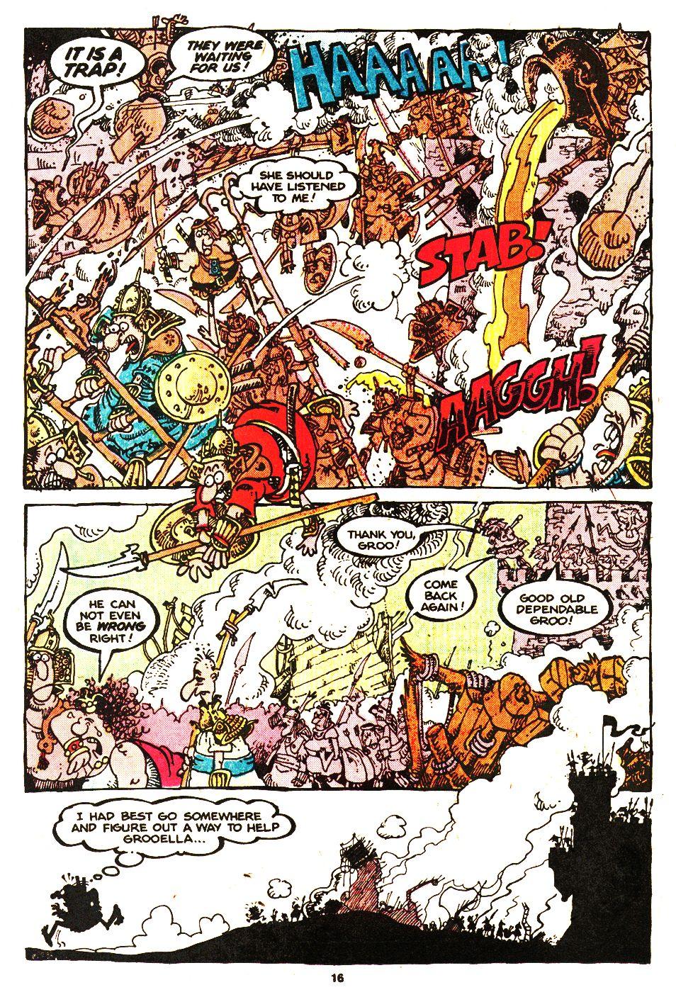 Read online Sergio Aragonés Groo the Wanderer comic -  Issue #20 - 16