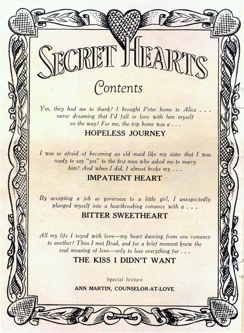 Read online Secret Hearts comic -  Issue #26 - 2