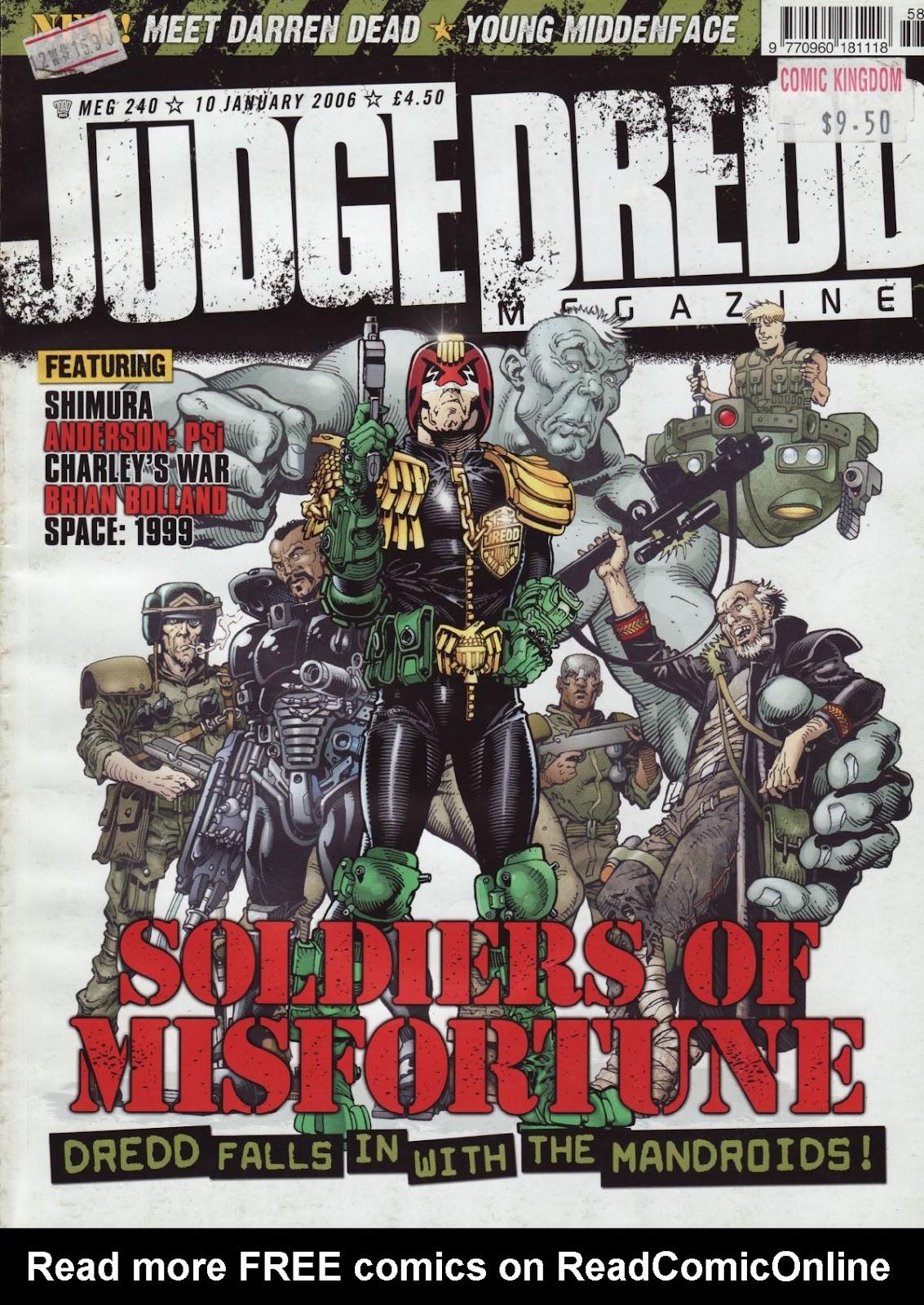 Judge Dredd Megazine (Vol. 5) issue 240 - Page 1