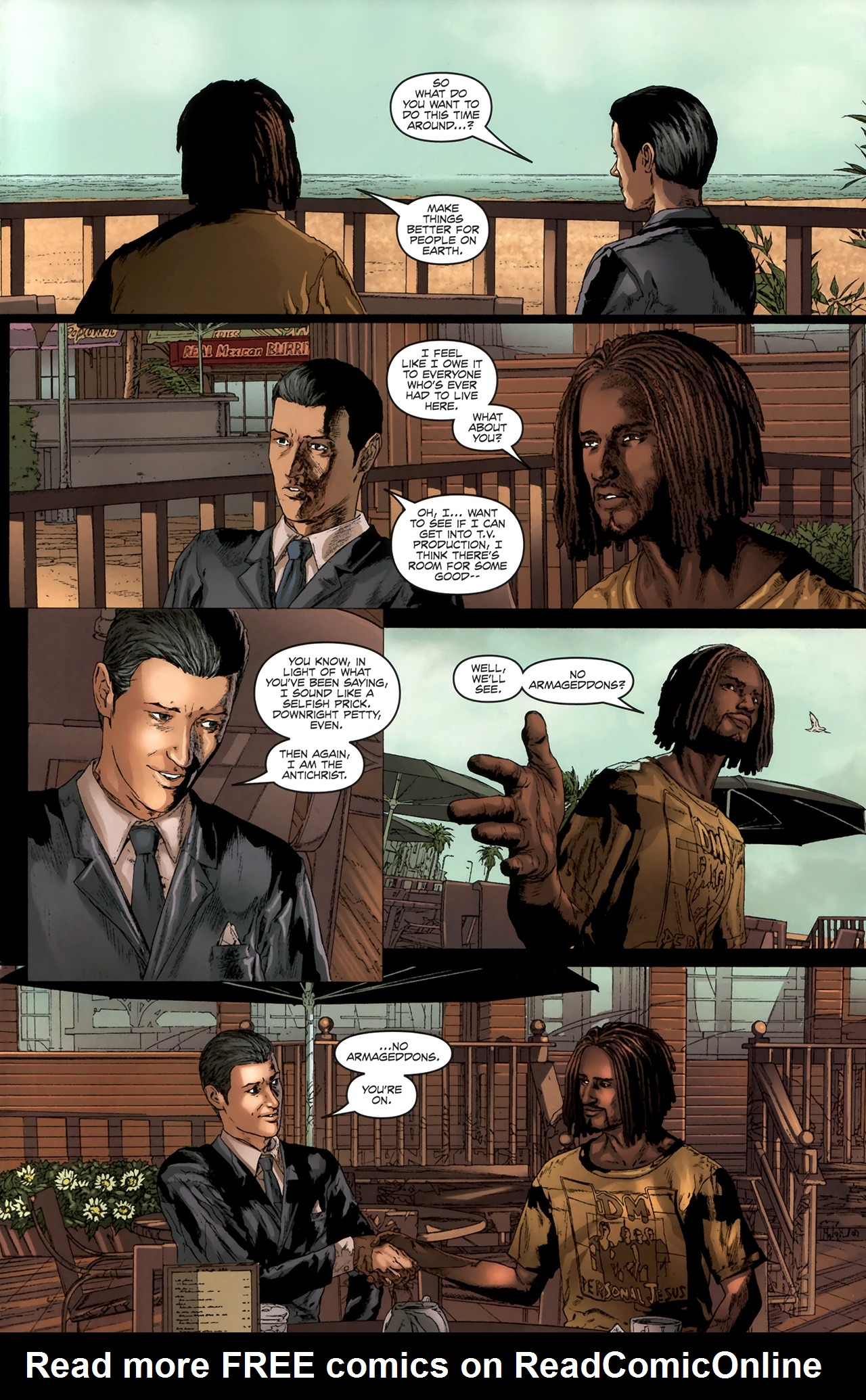 Read online Chronicles of Wormwood: The Last Battle comic -  Issue #6 - 8