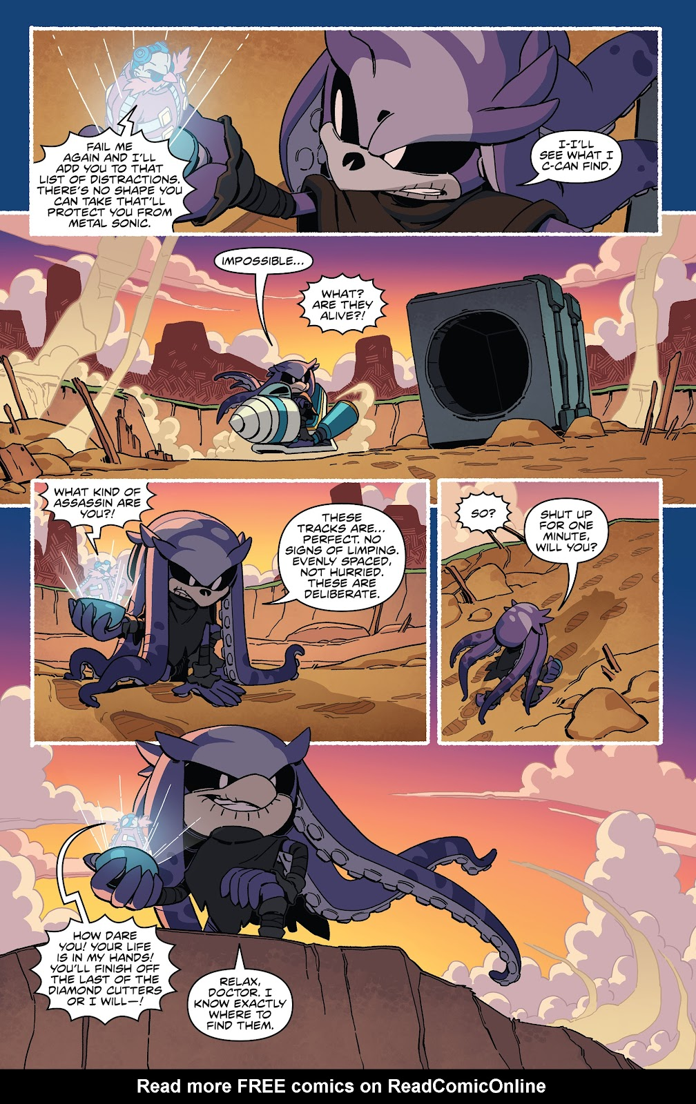 Read Online Sonic The Hedgehog Tangle Whisper Comic Issue 3