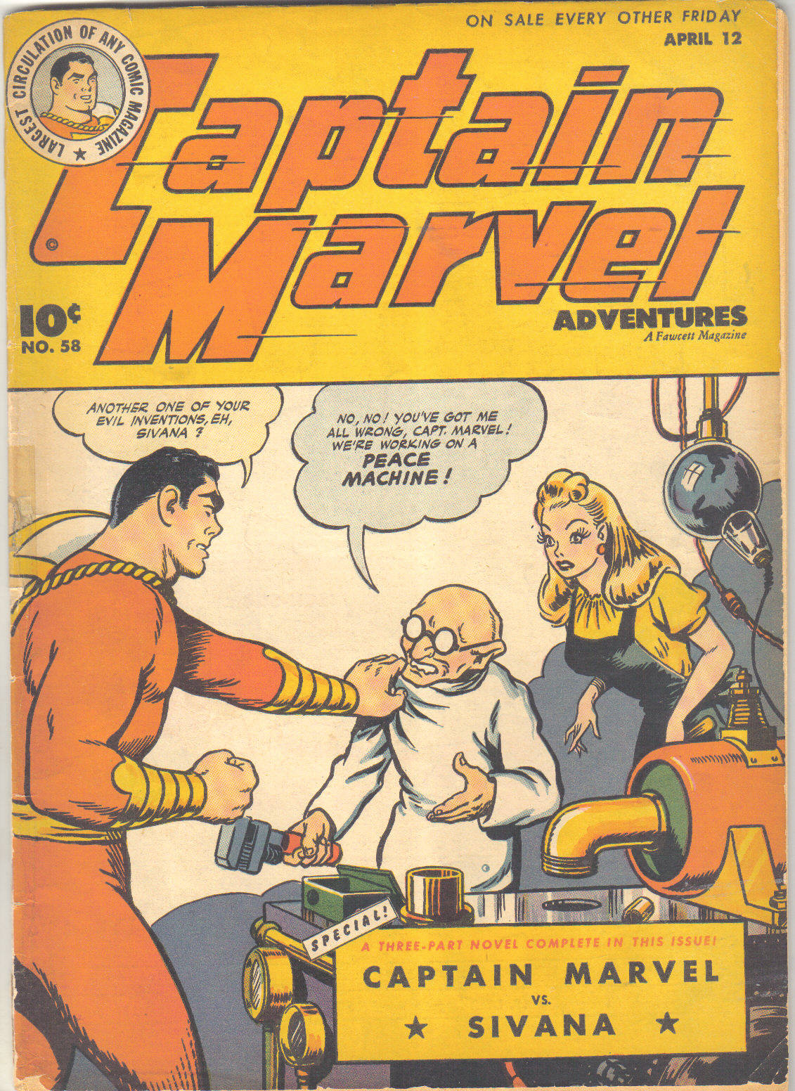 Captain Marvel Adventures 58 Page 1