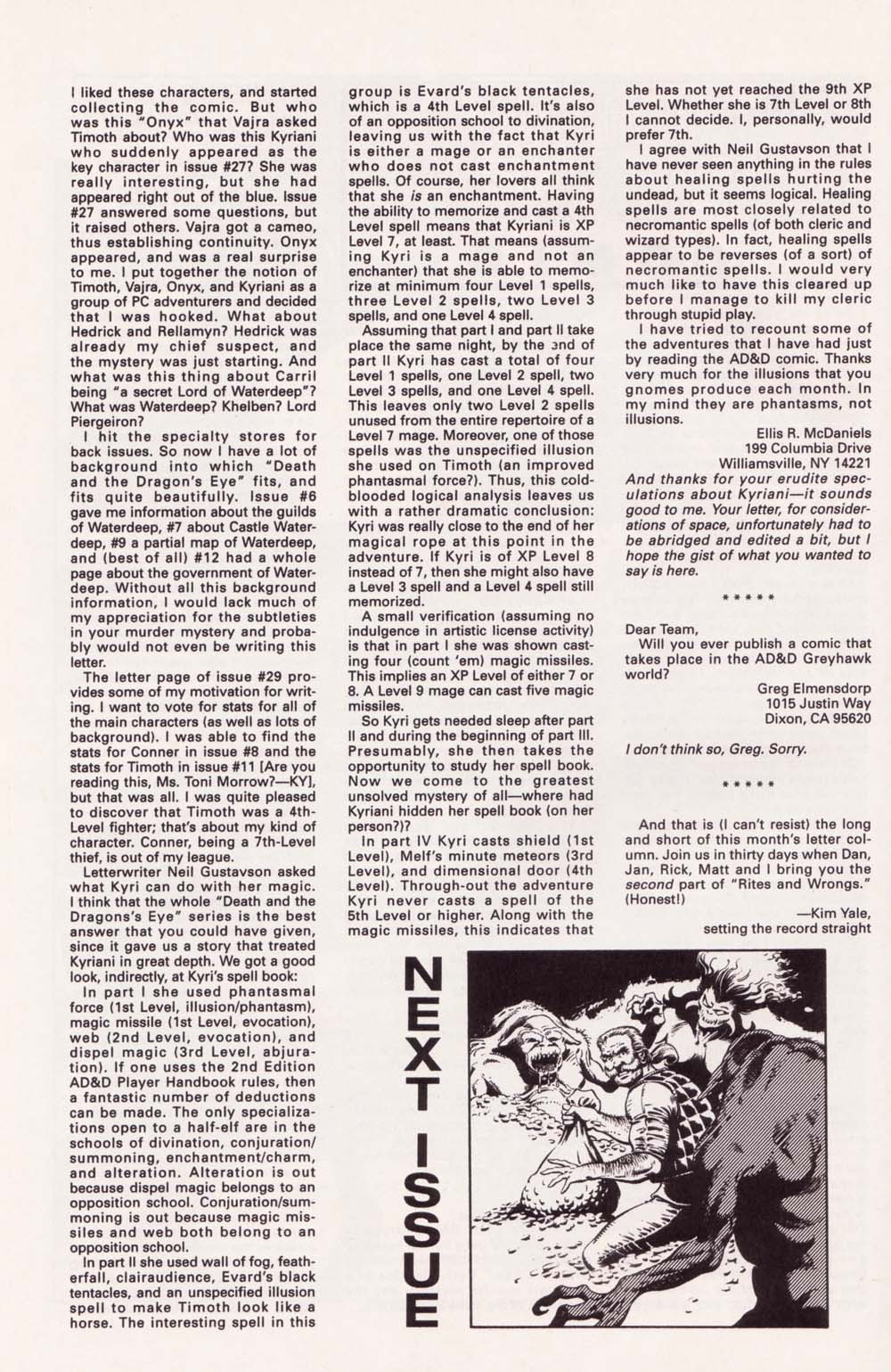 Read online Advanced Dungeons & Dragons comic -  Issue #34 - 26