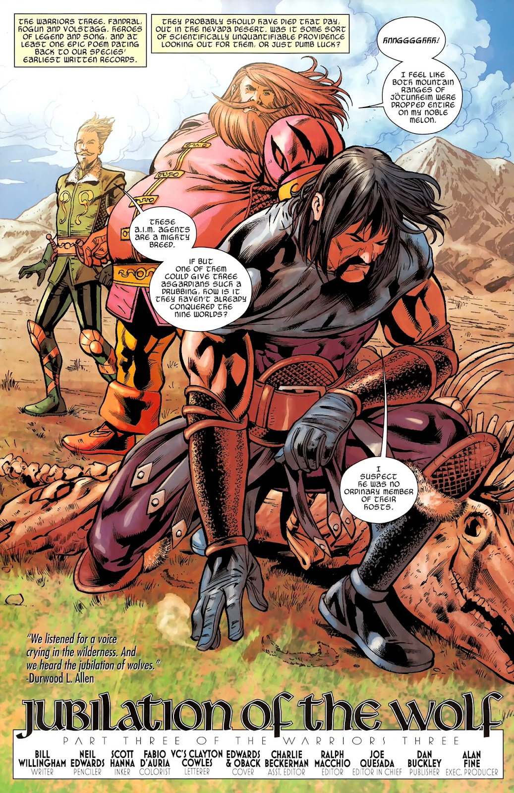 Warriors Three Issue #3 #3 - English 3