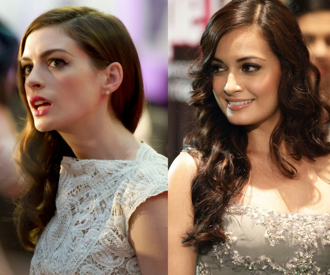 Anne Hathaway and Dia Mirza