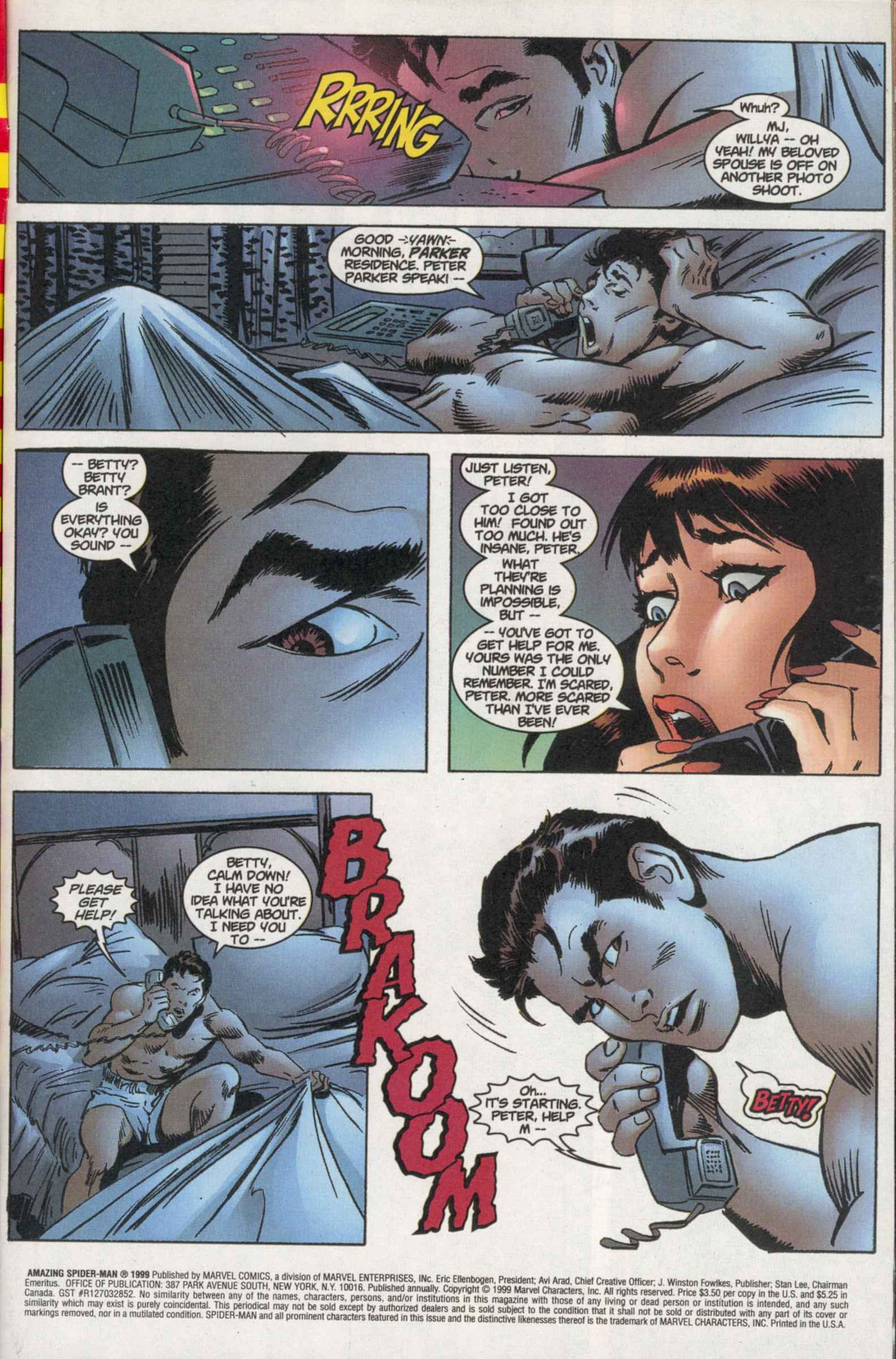 The Amazing Spider-Man (1999) _Annual_1 Page 1