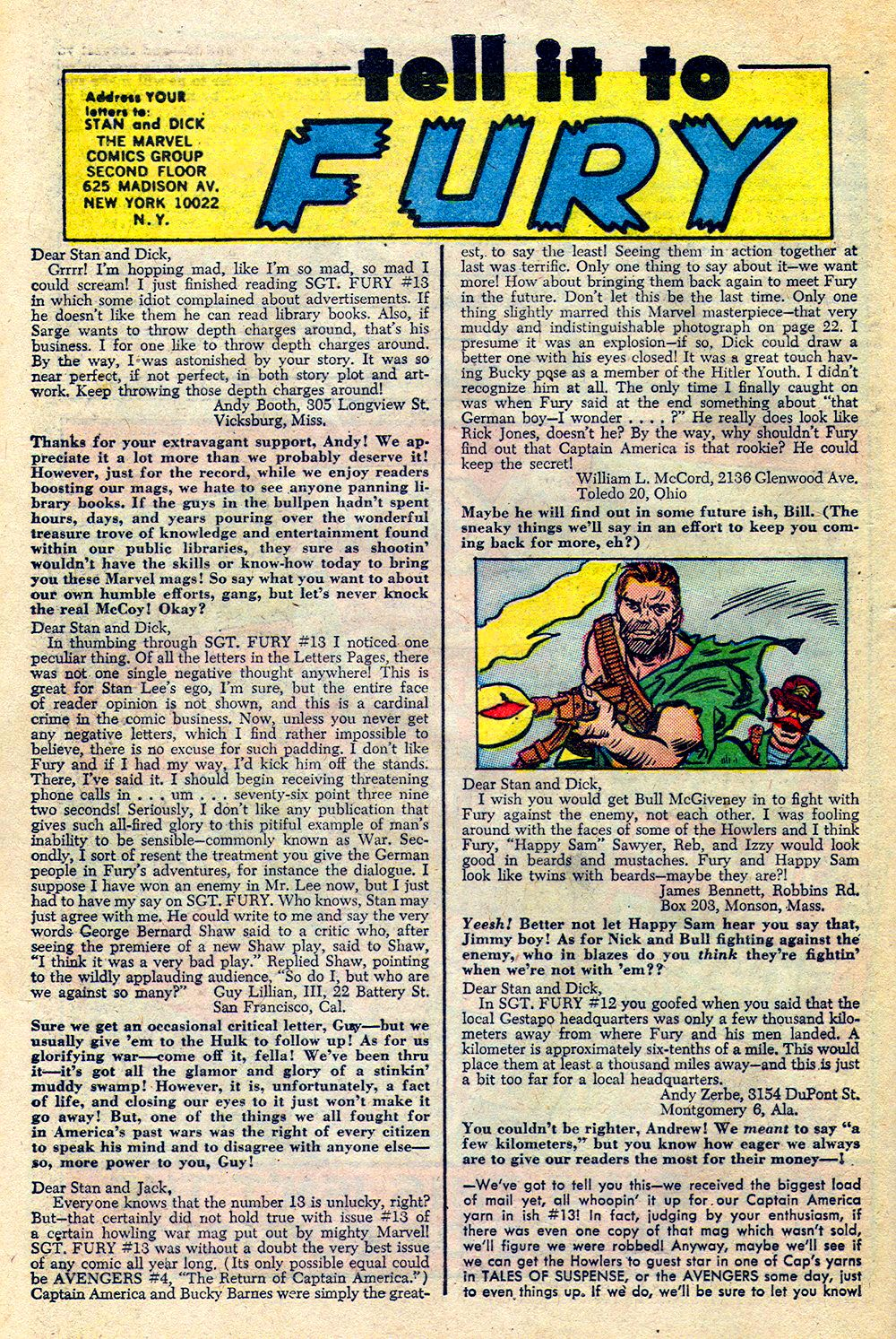 Read online Sgt. Fury comic -  Issue #16 - 32