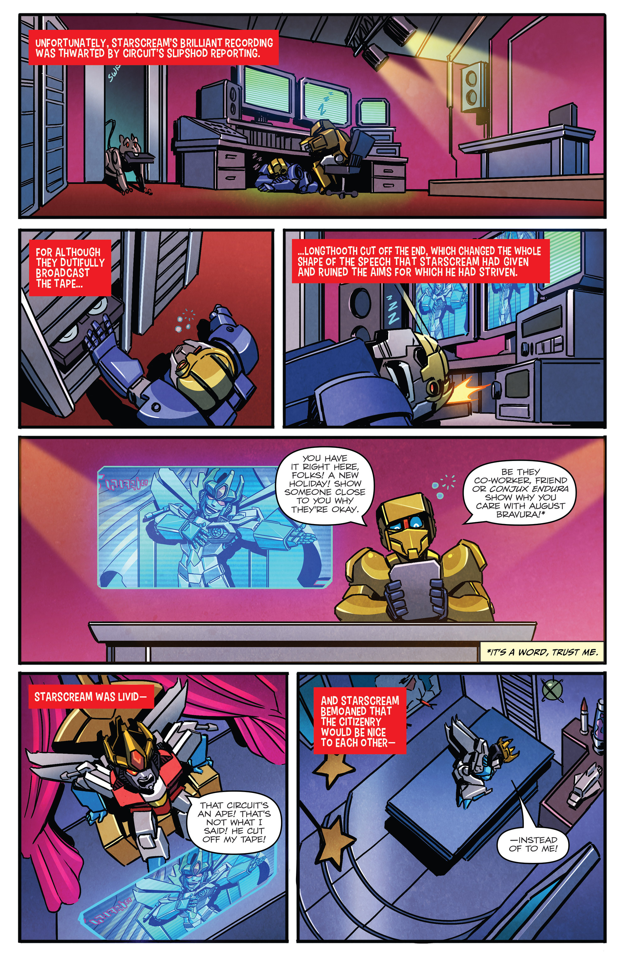 Read online Transformers: Holiday Special comic -  Issue # Full - 7