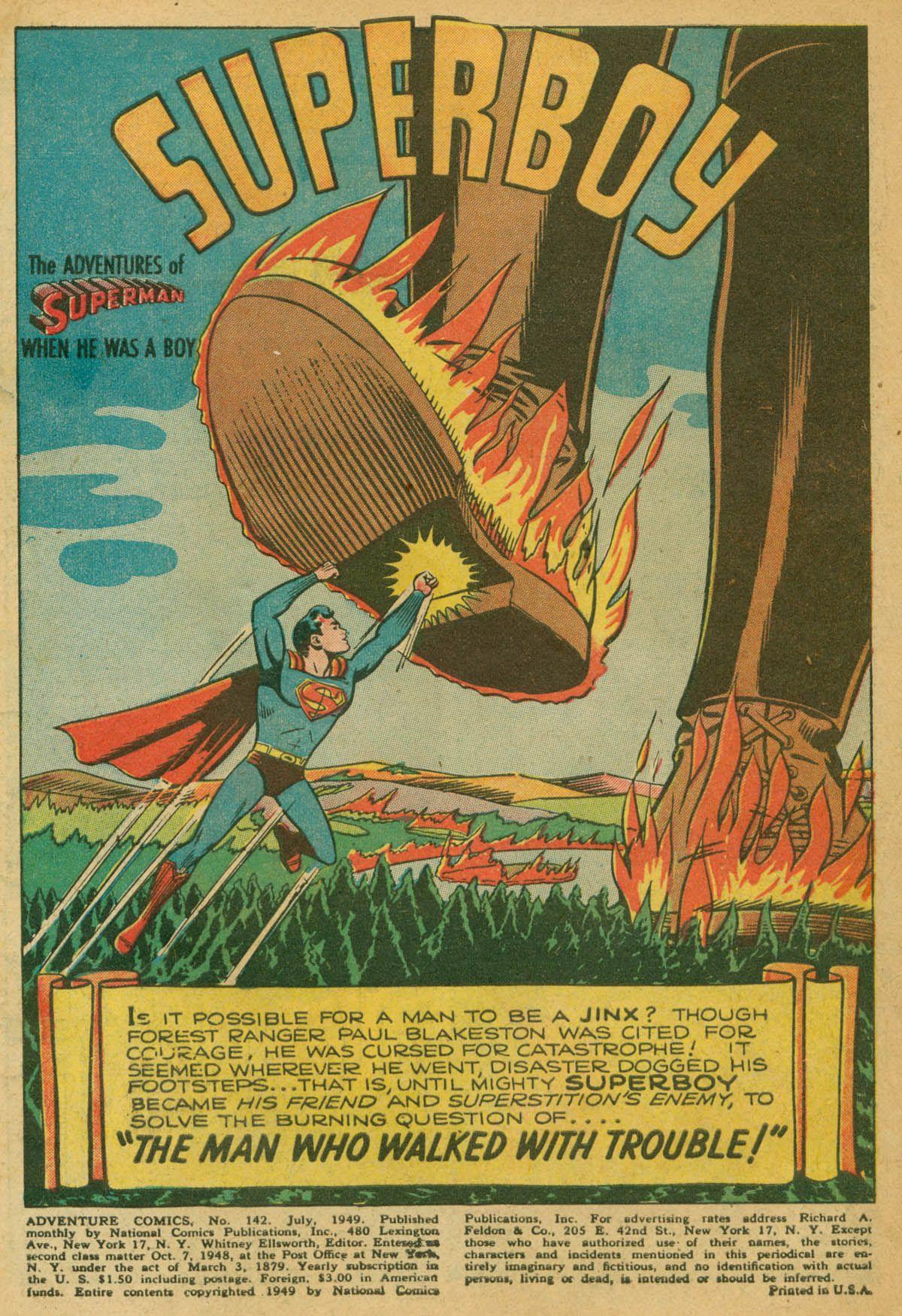 Read online Adventure Comics (1938) comic -  Issue #142 - 2