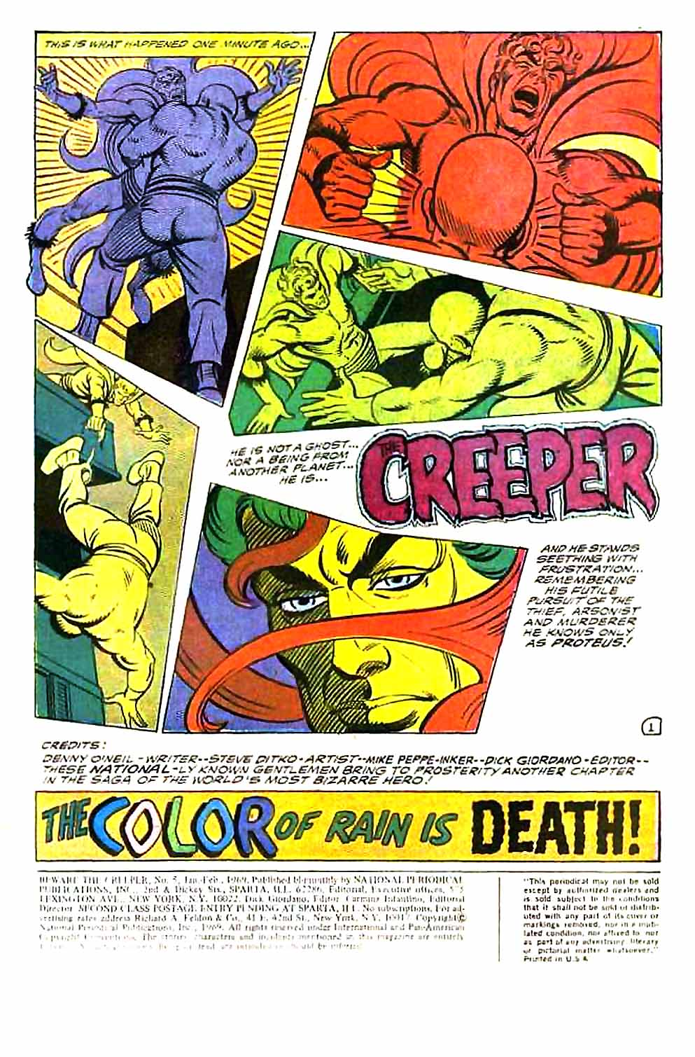 Beware The Creeper (1968) issue 5 - Page 3