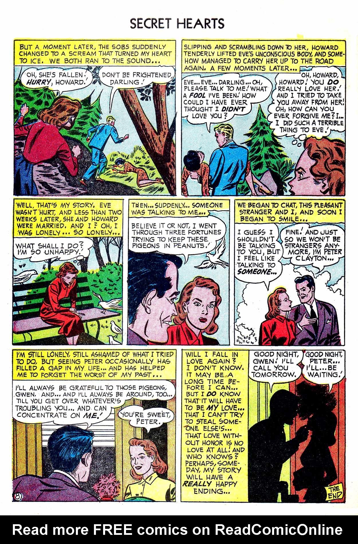 Read online Secret Hearts comic -  Issue #8 - 34