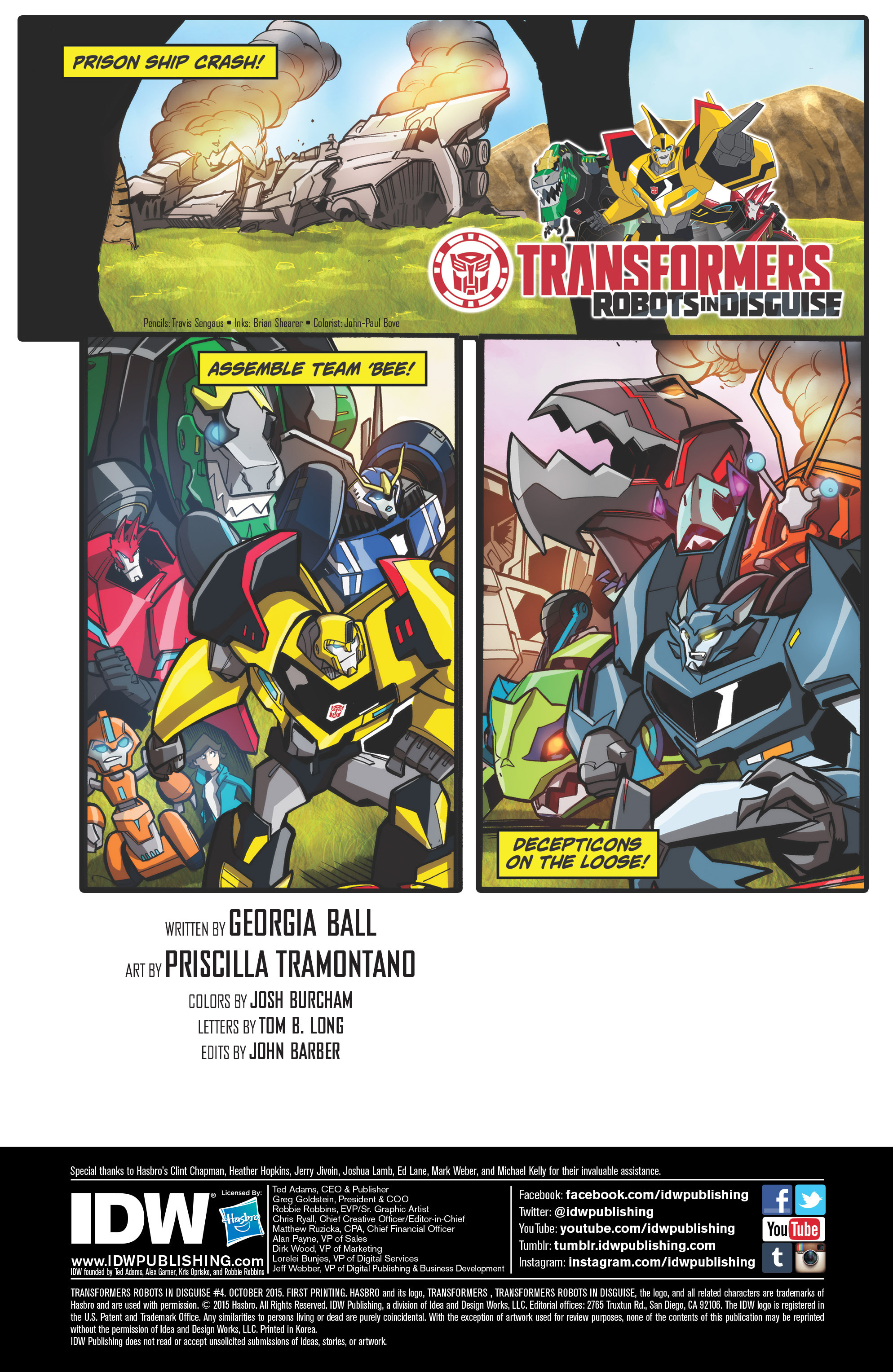 Read online Transformers: Robots In Disguise (2015) comic -  Issue #4 - 2
