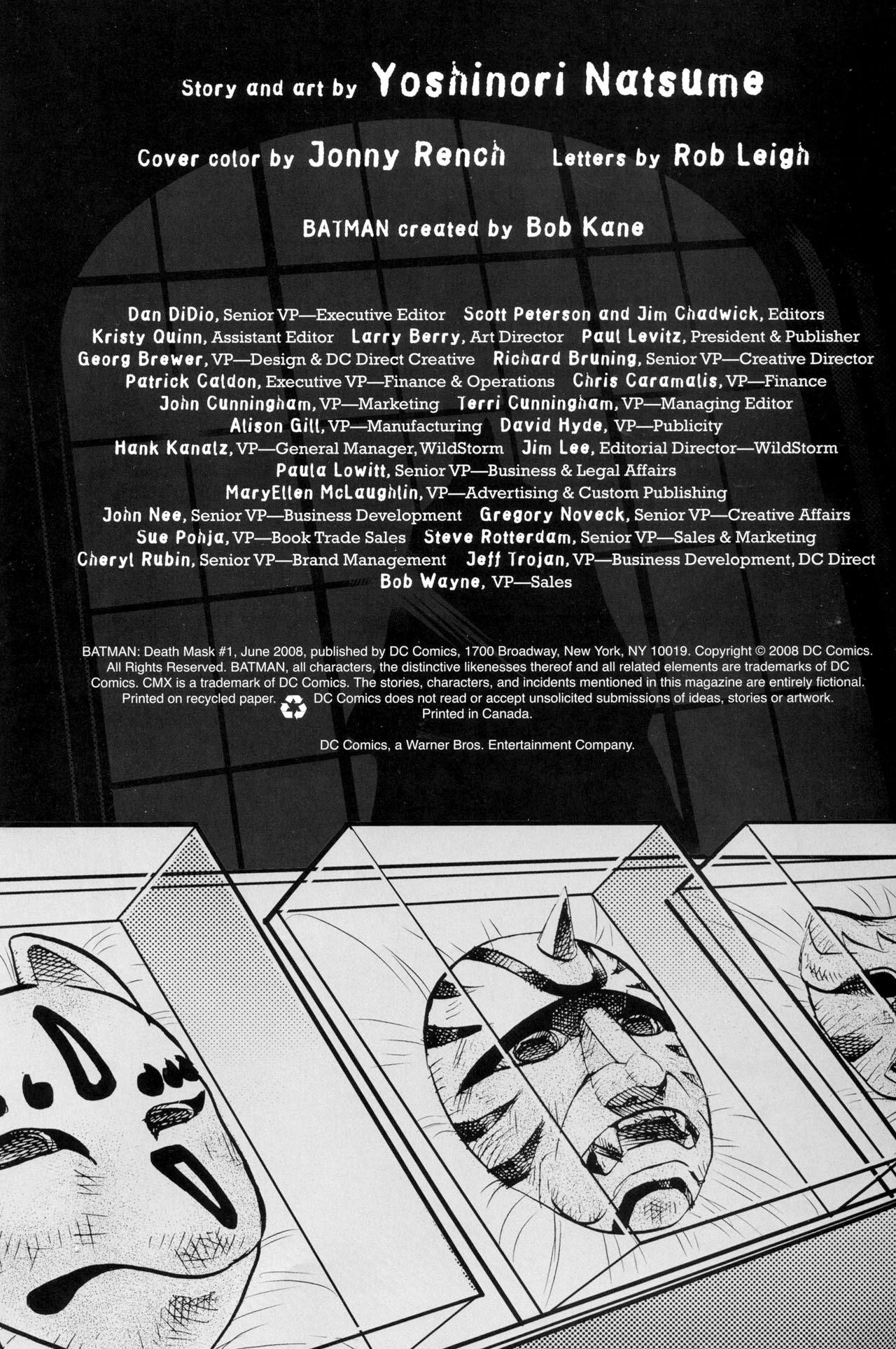 Batman: Death Mask 1 Page 2