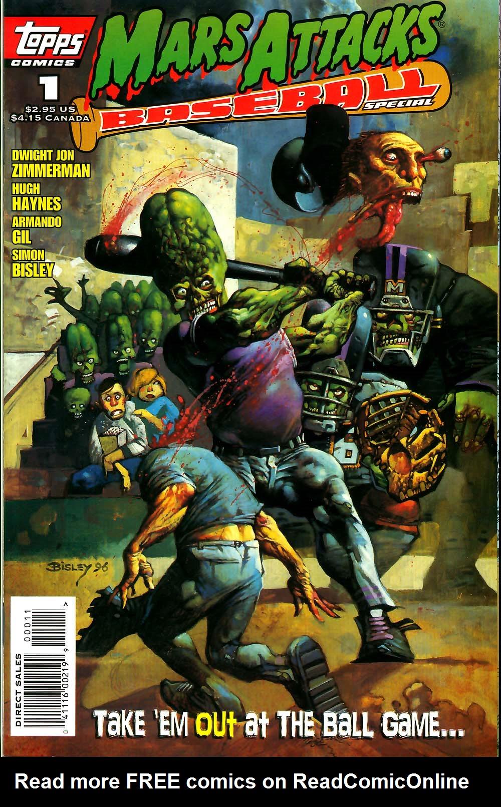 Read online Mars Attacks Baseball Special comic -  Issue # Full - 1