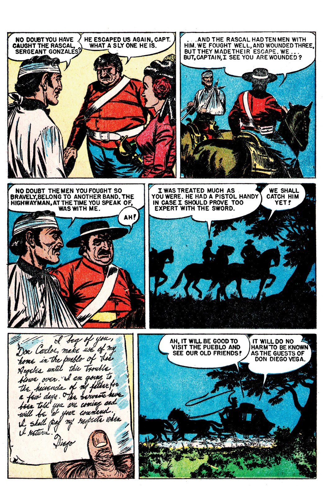 Read online AM Archives: The Mark of Zorro #1 1949 Dell Edition comic -  Issue #1 1949 Dell Edition Full - 16
