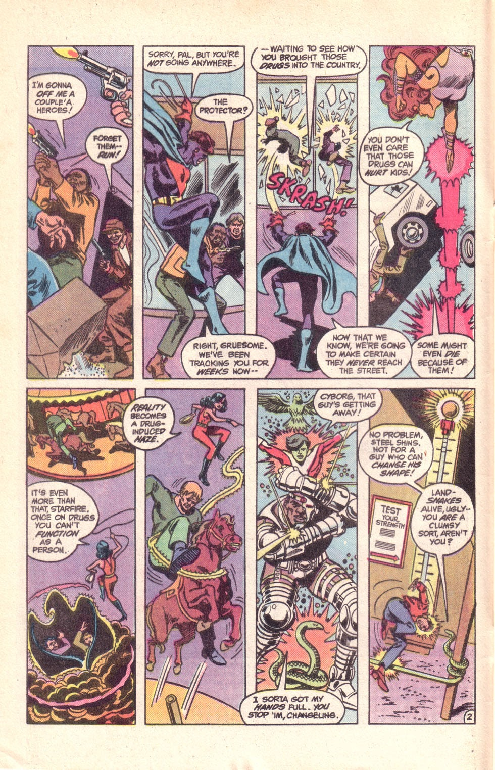 Read online The New Teen Titans (Drug Awareness Specials) comic -  Issue #1 - 4