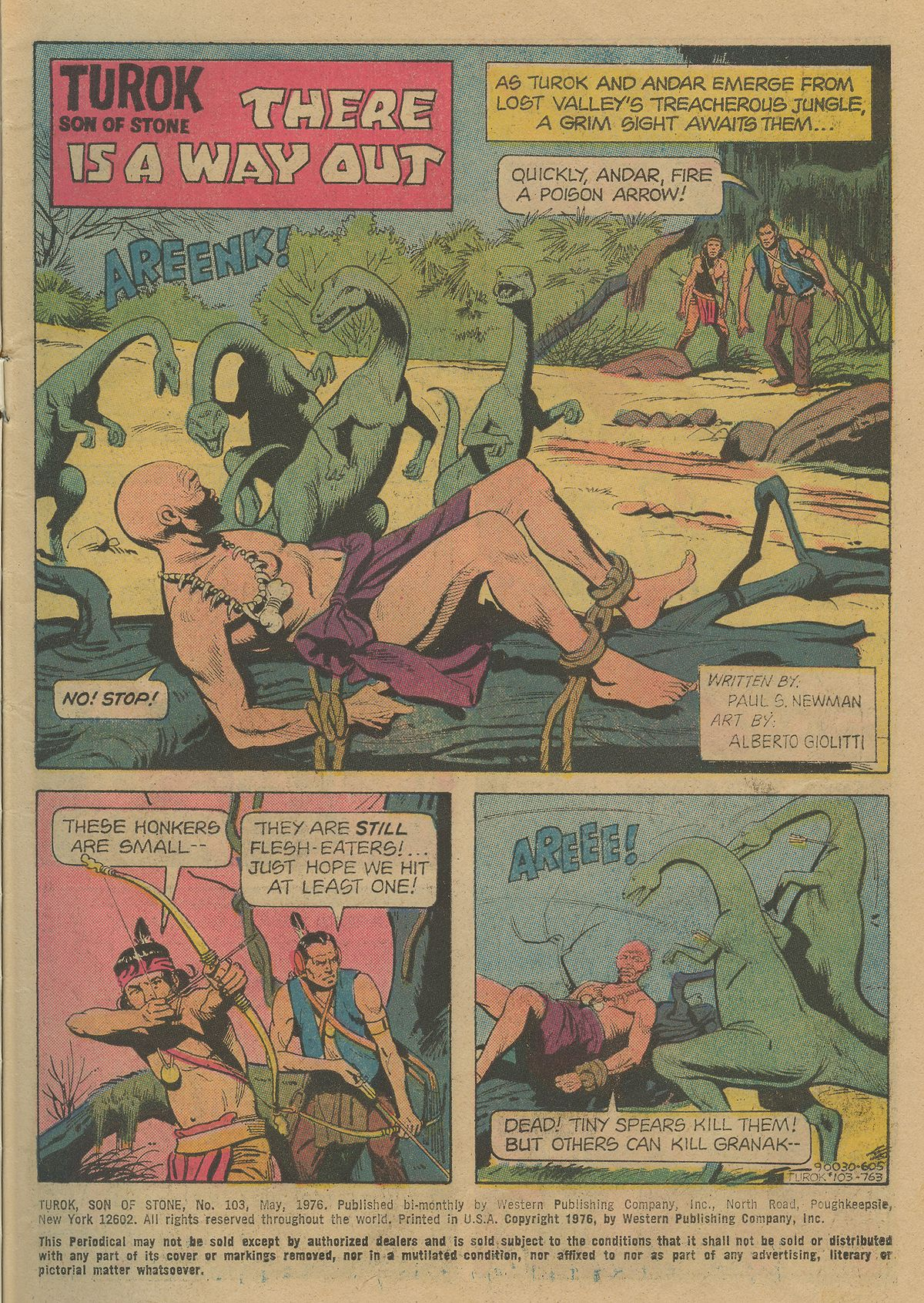 Read online Turok, Son of Stone comic -  Issue #103 - 3