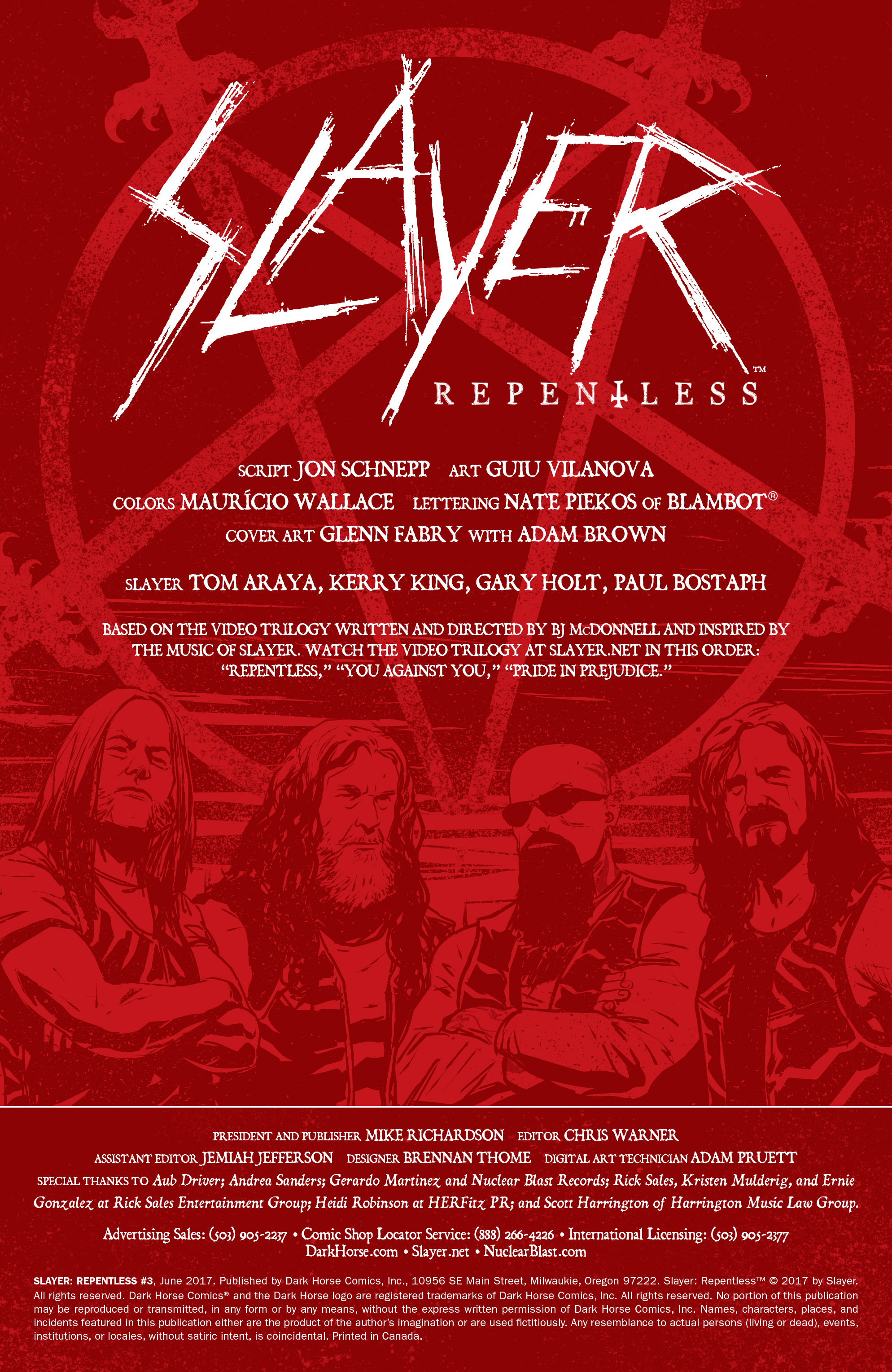 Read online Slayer: Repentless comic -  Issue #3 - 2