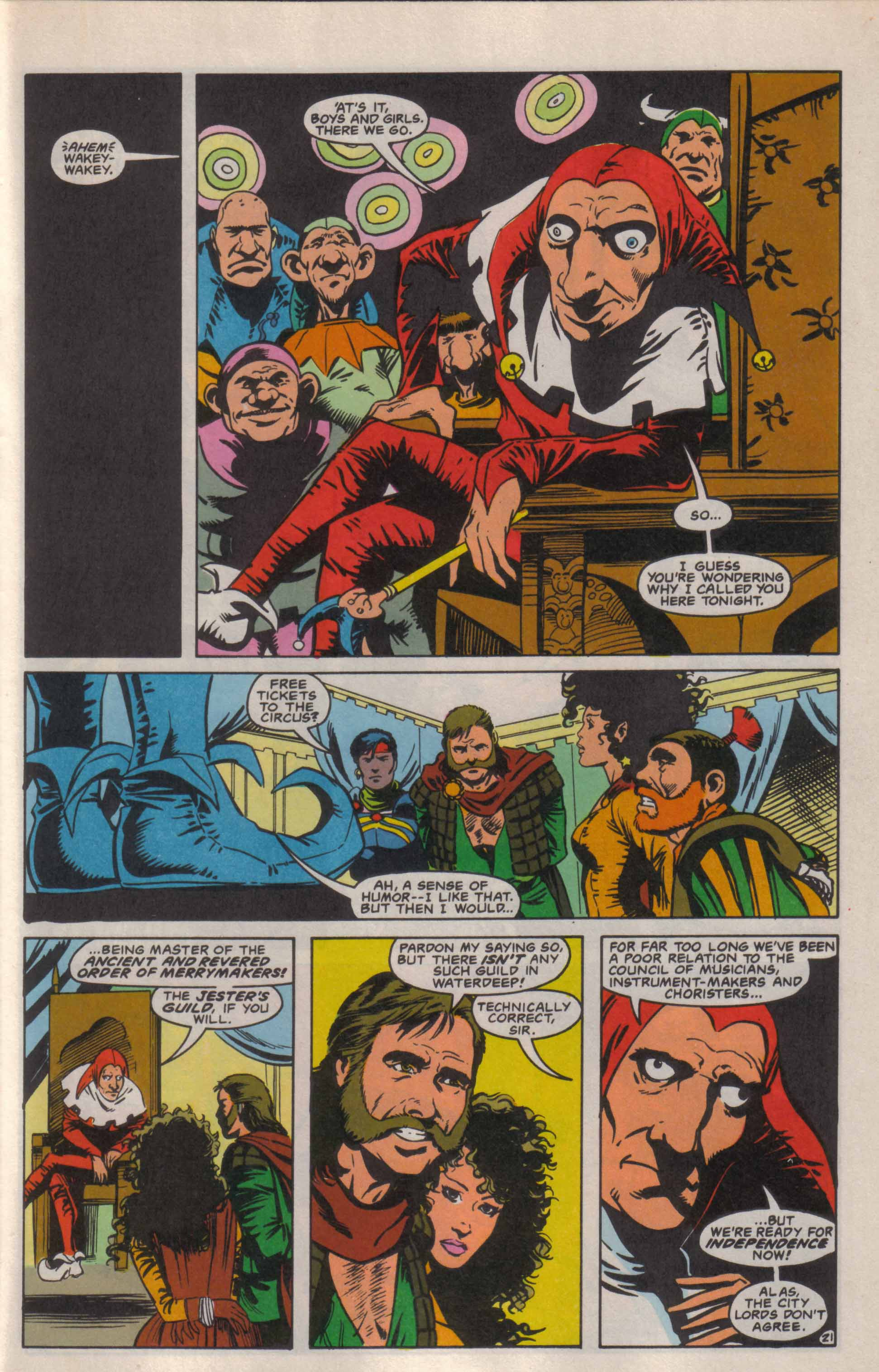 Read online Advanced Dungeons & Dragons comic -  Issue #6 - 22