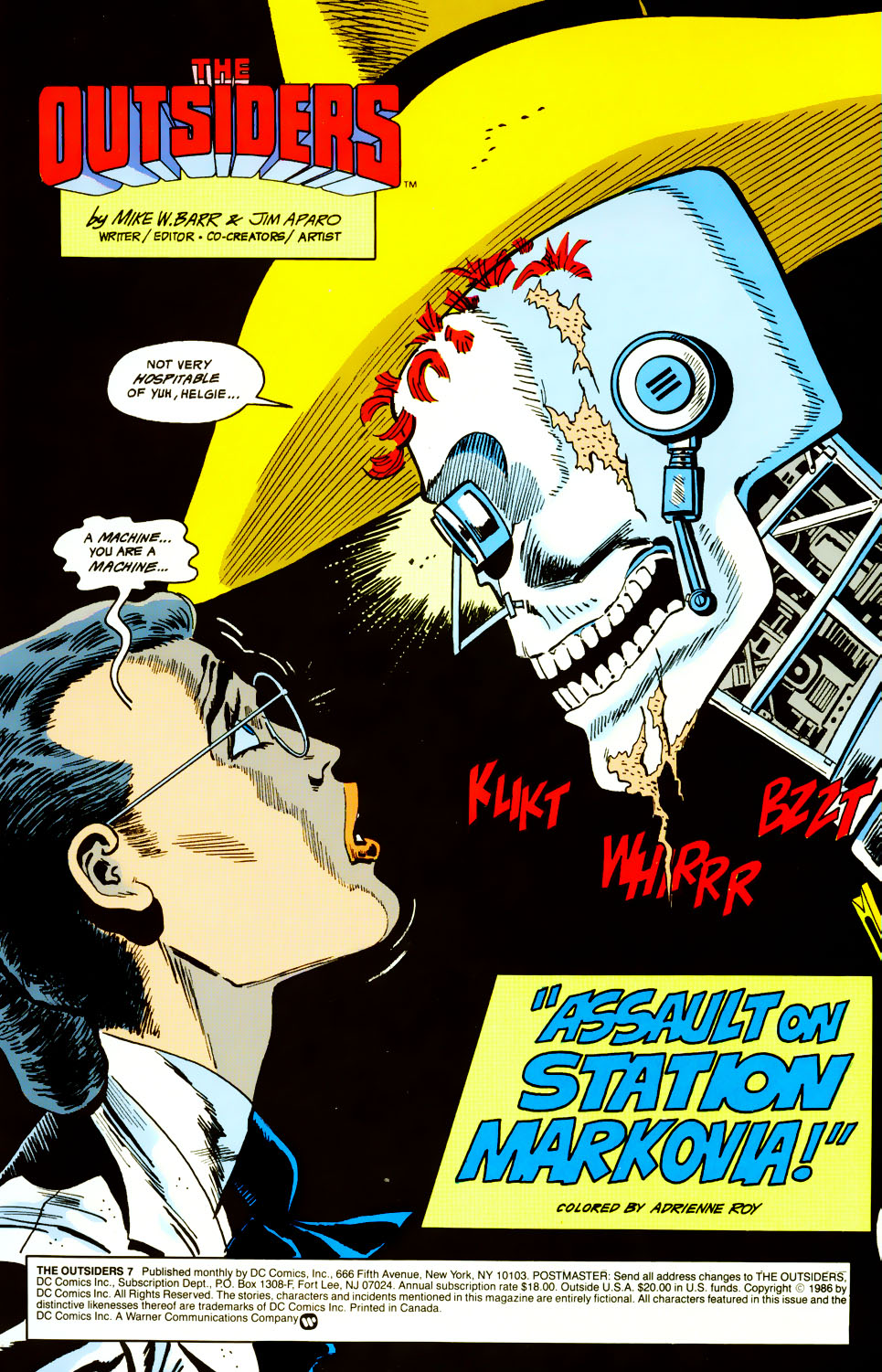 Read online Adventures of the Outsiders comic -  Issue #45 - 2