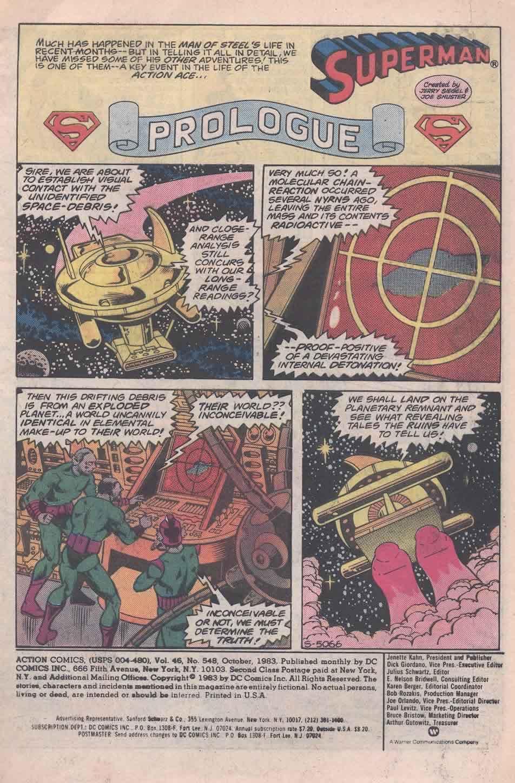 Action Comics (1938) 548 Page 1