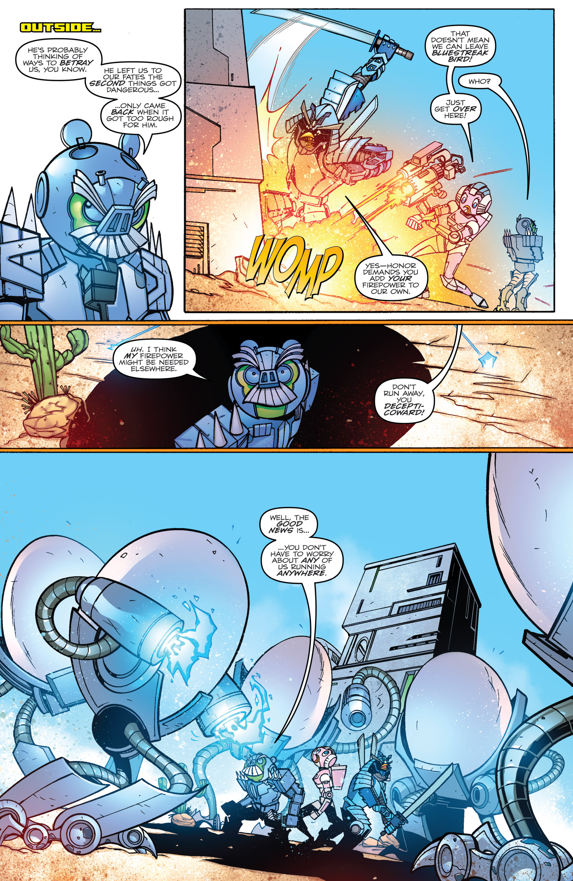 Read online Angry Birds Transformers comic -  Issue #3 - 13