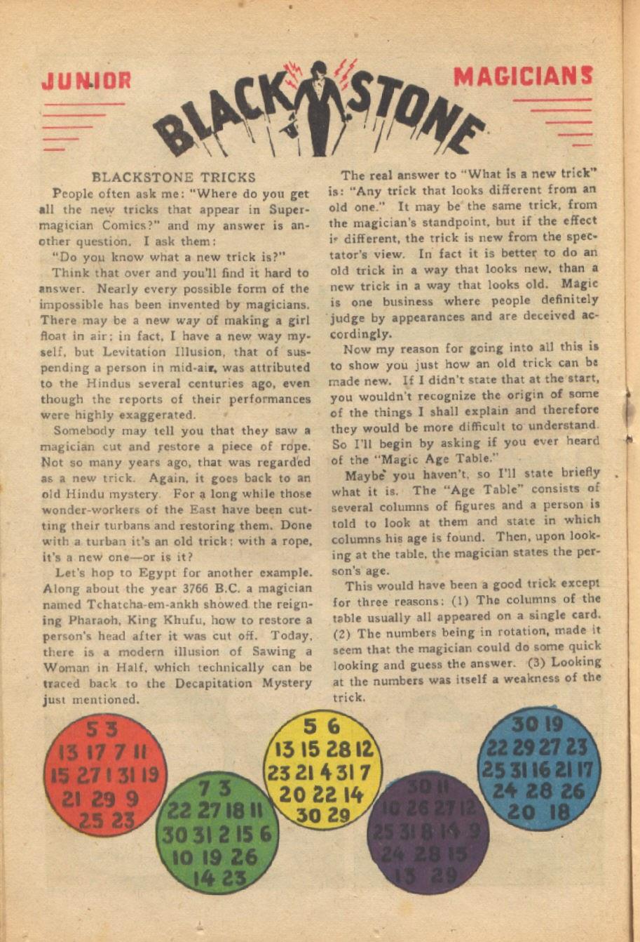 Read online Super-Magician Comics comic -  Issue #37 - 21