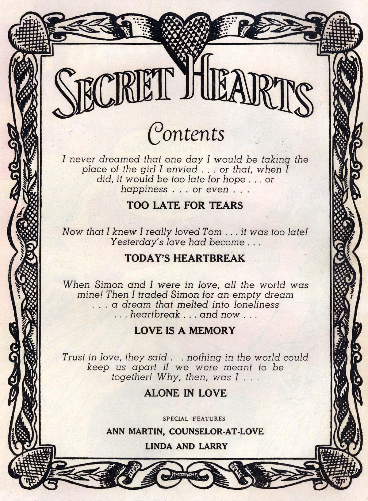 Read online Secret Hearts comic -  Issue #43 - 2