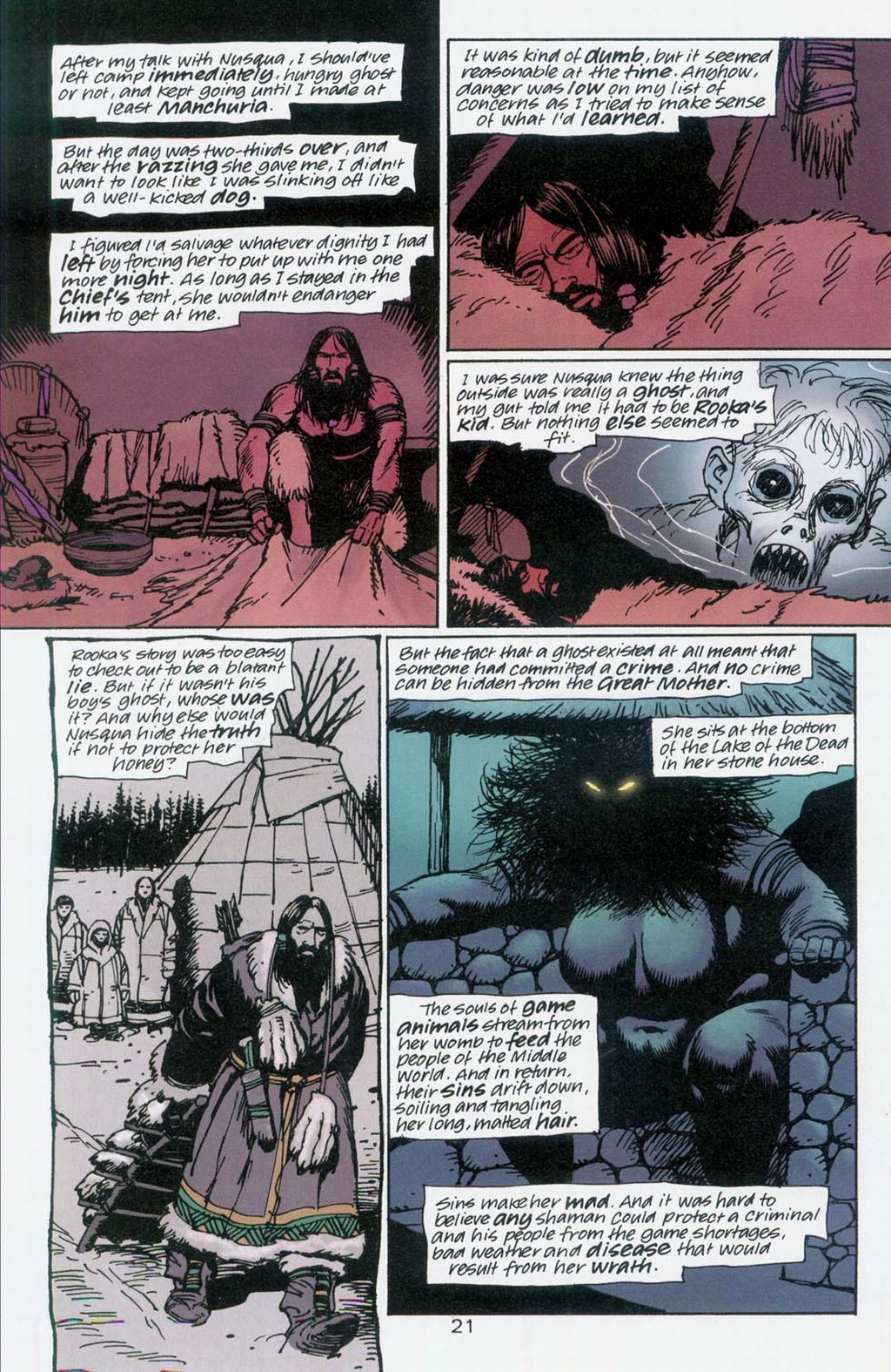 Muktuk Wolfsbreath: Hard-Boiled Shaman issue 1 - Page 21