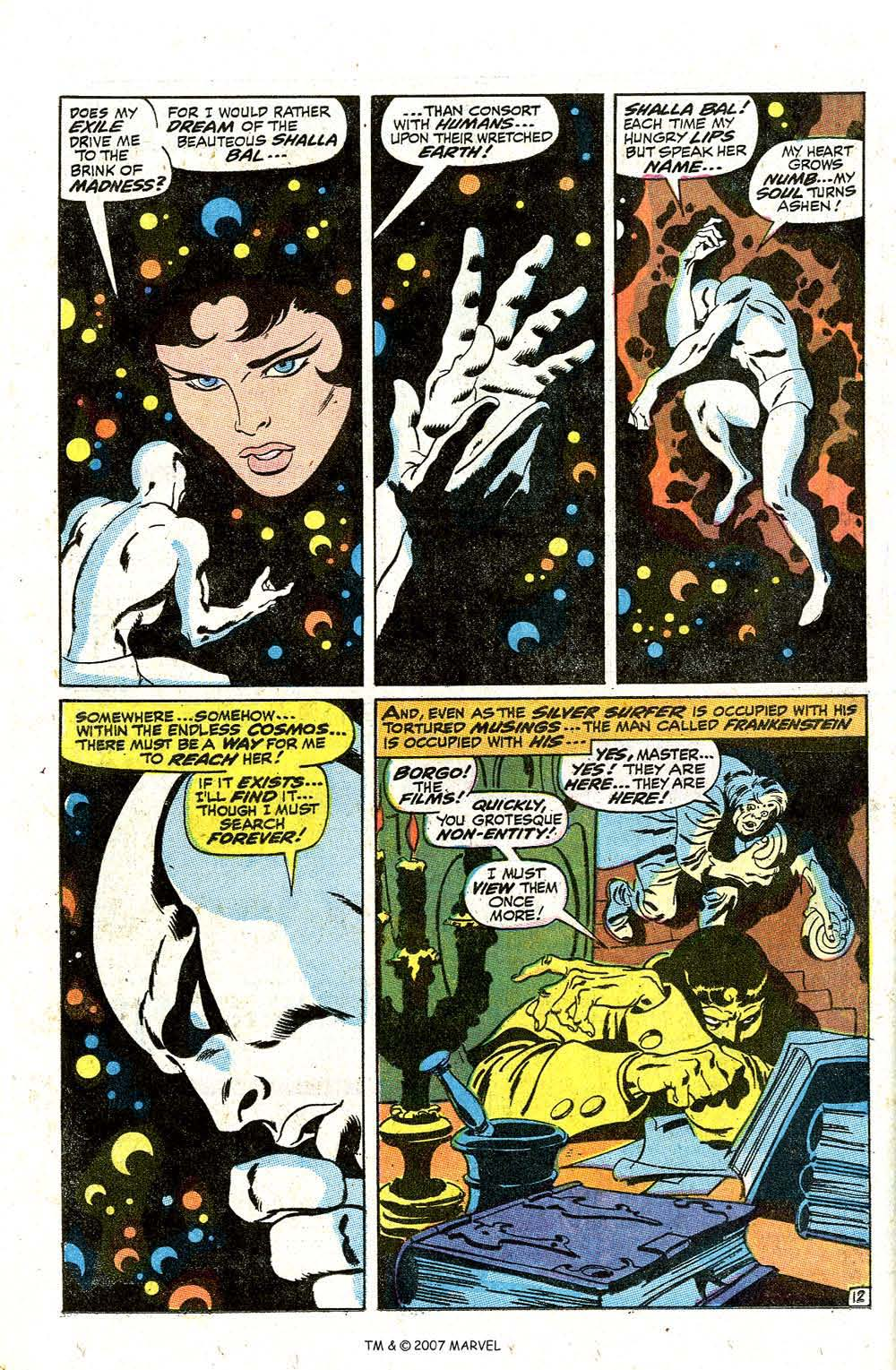 Read online Silver Surfer (1968) comic -  Issue #7 - 16