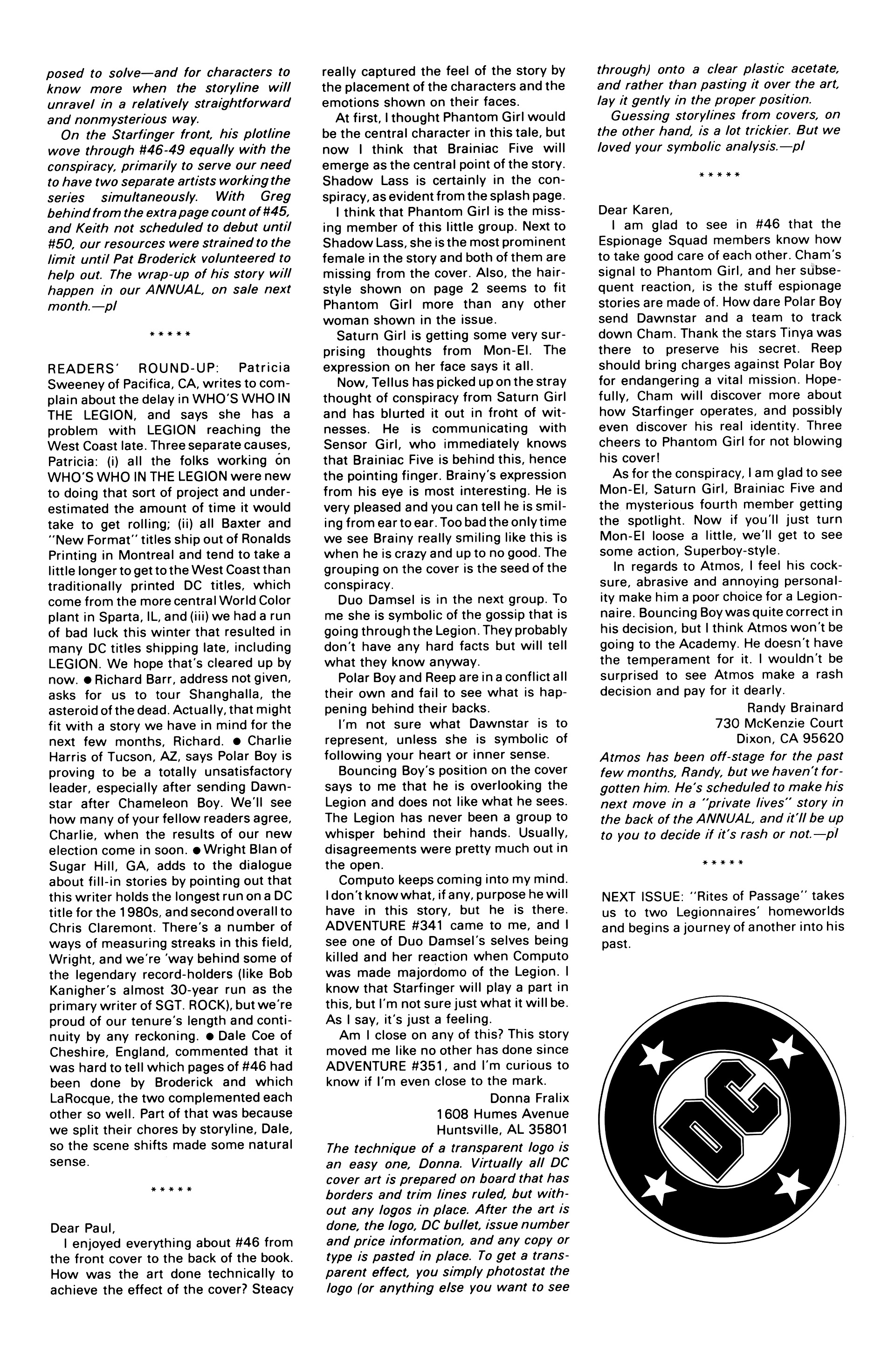 Legion of Super-Heroes (1984) 51 Page 29