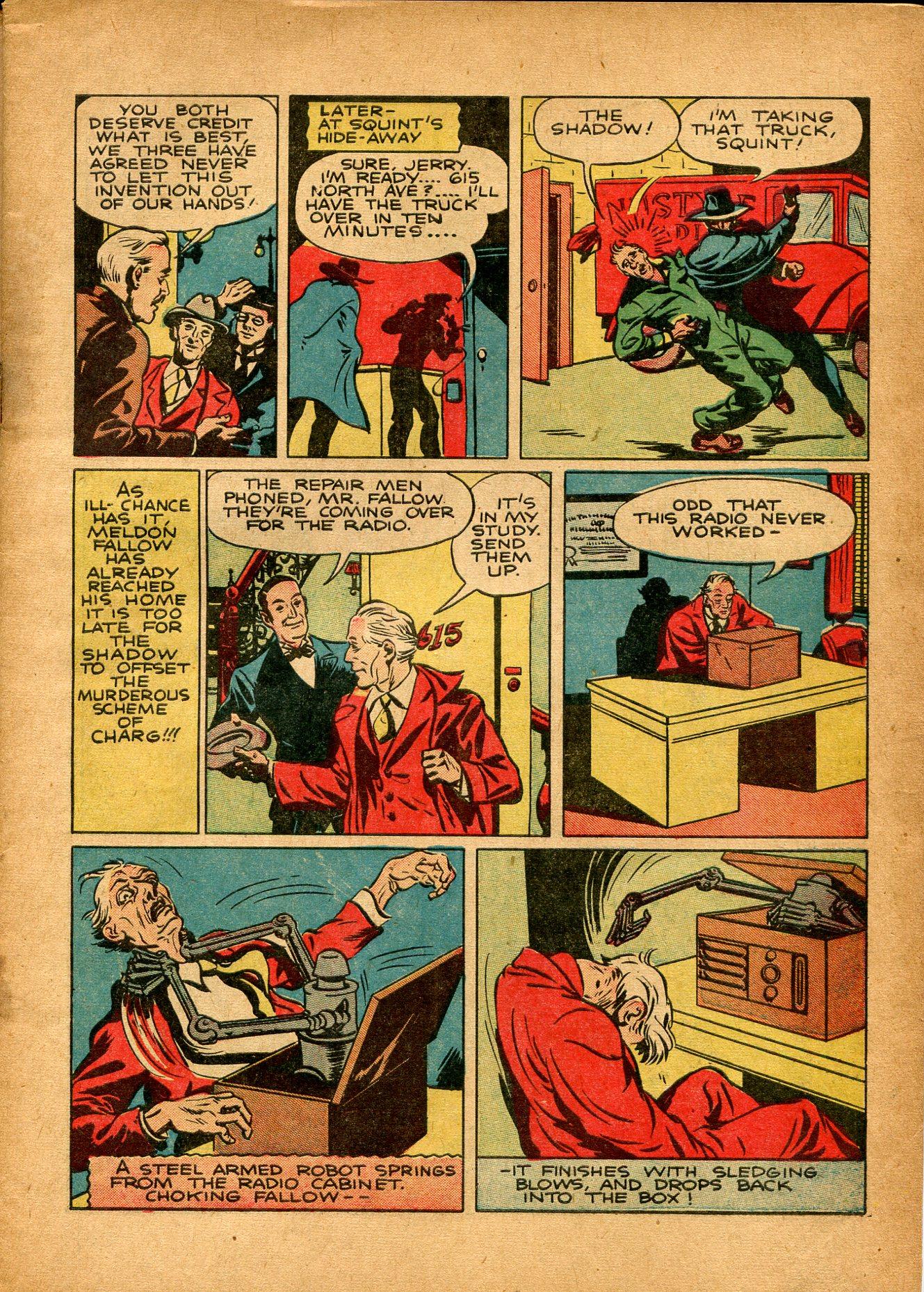 Read online Shadow Comics comic -  Issue #8 - 5