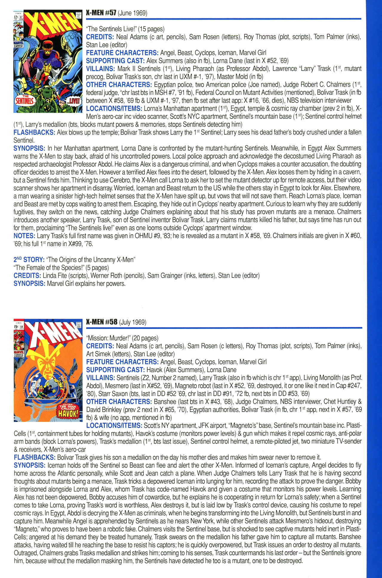 Read online Official Index to the Marvel Universe comic -  Issue #2 - 49