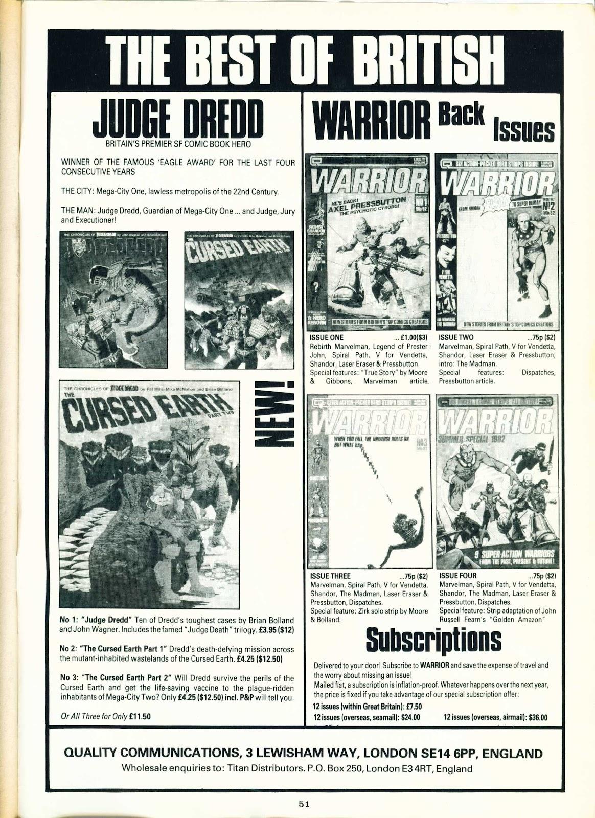 Warrior Issue #5 #6 - English 50