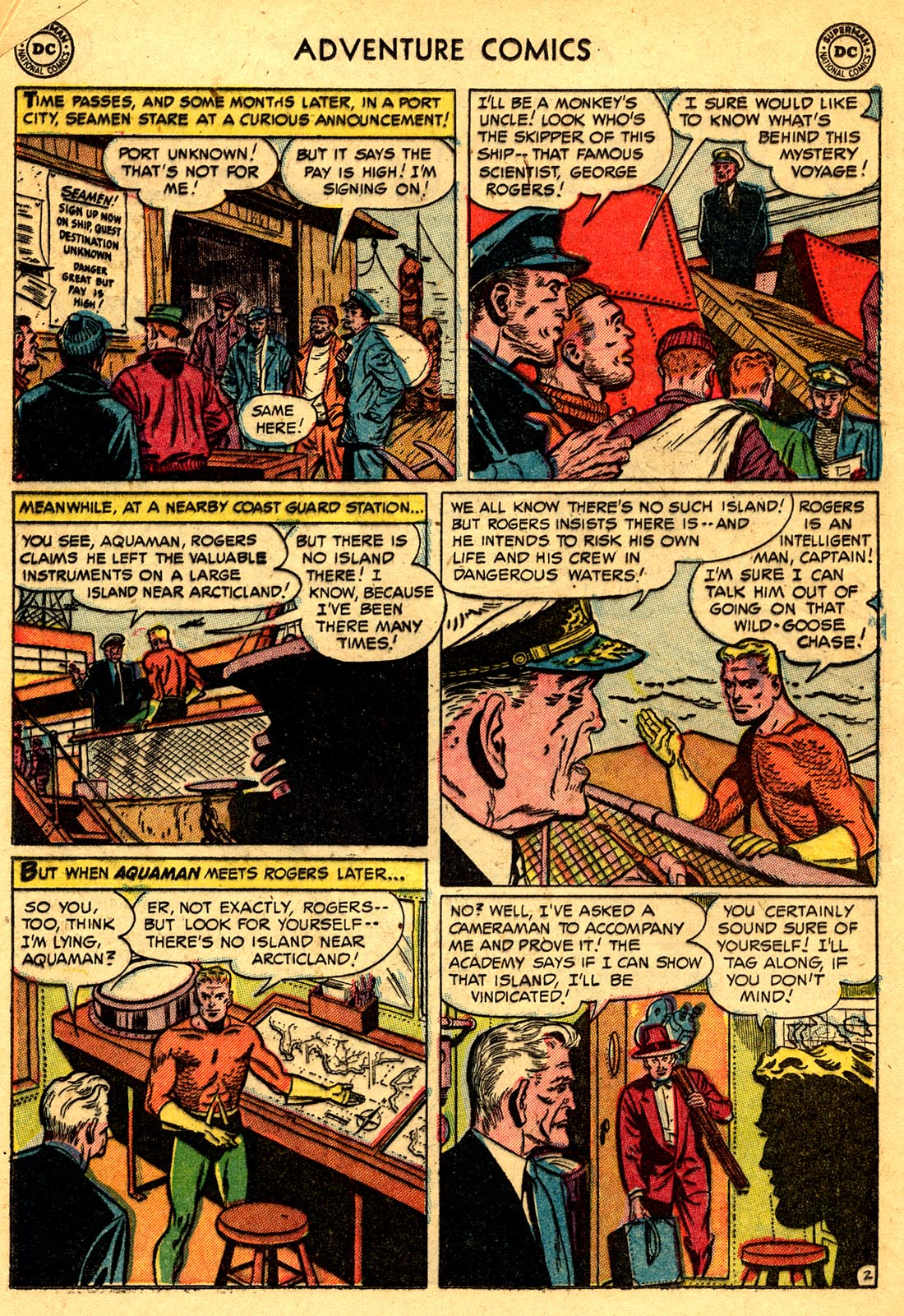 Read online Adventure Comics (1938) comic -  Issue #209 - 16