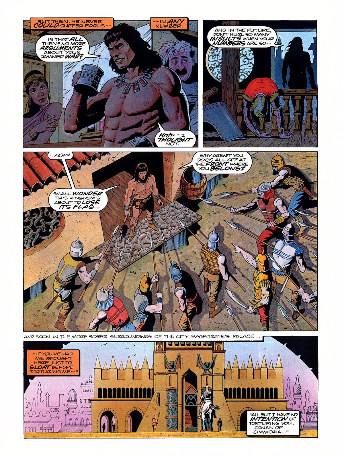 Read online Marvel Graphic Novel: Conan the Barbarian: The Skull of Set comic -  Issue # Full - 7