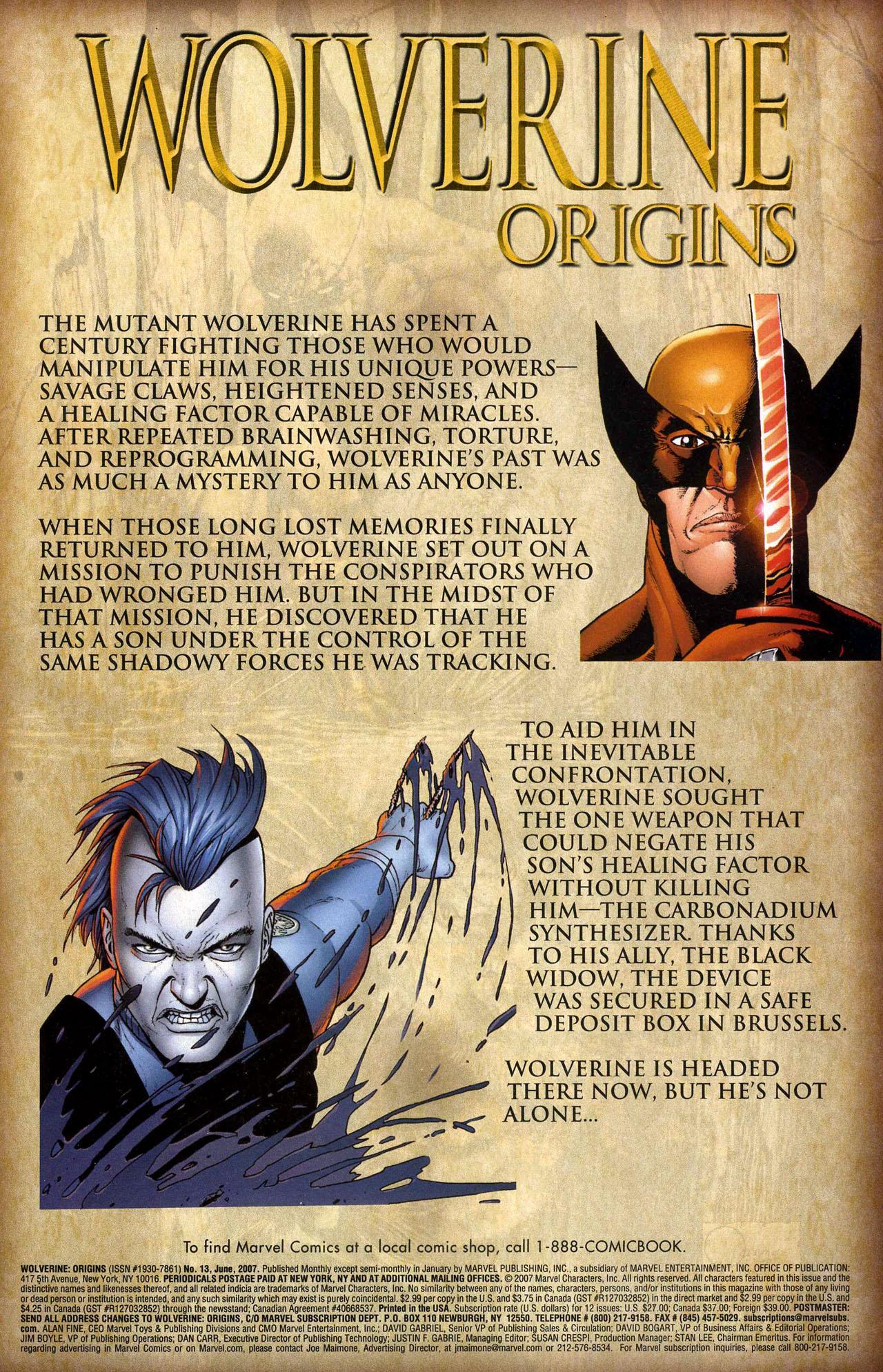 Read online Wolverine: Origins comic -  Issue #13 - 2