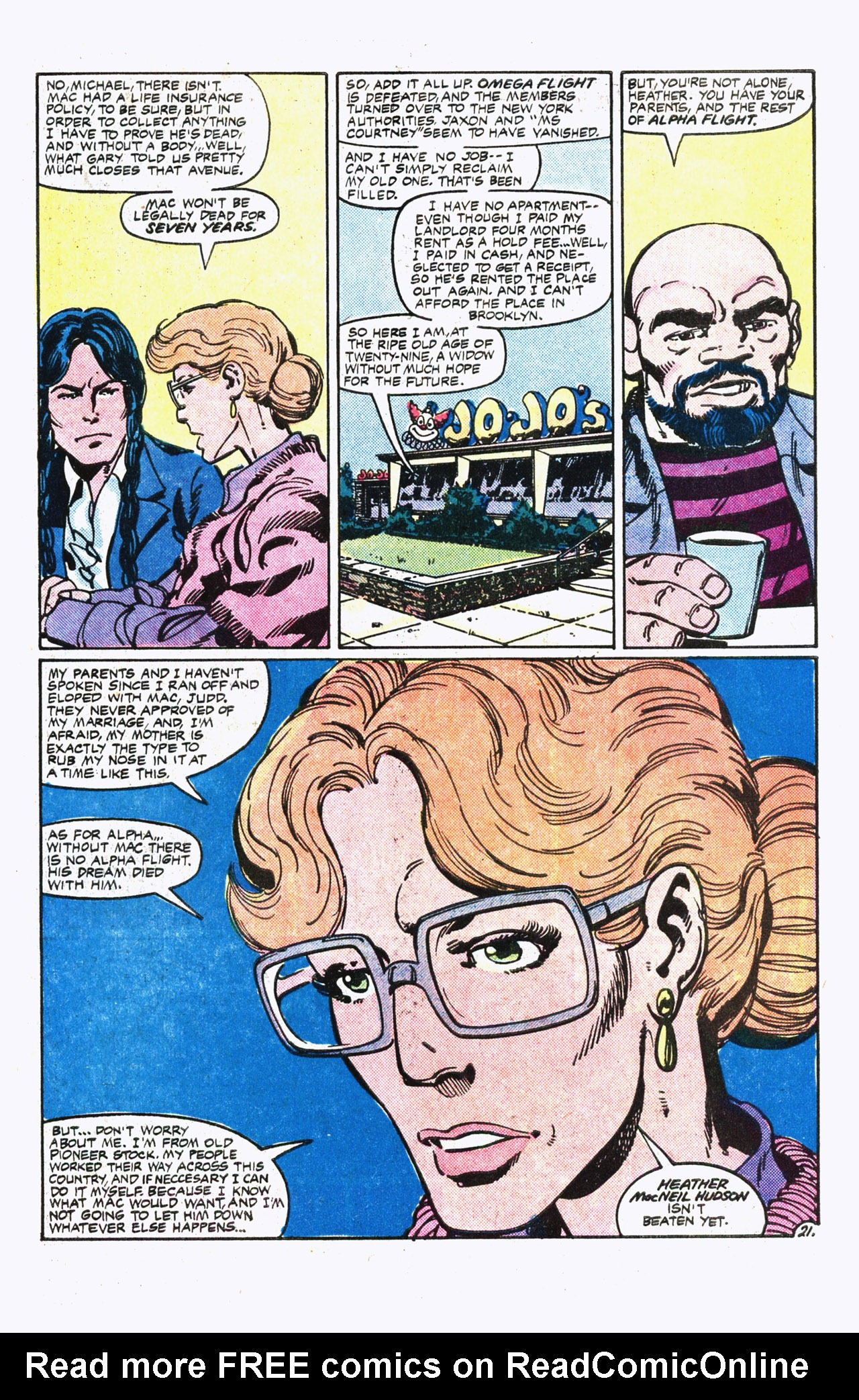 Read online Alpha Flight (1983) comic -  Issue #13 - 22