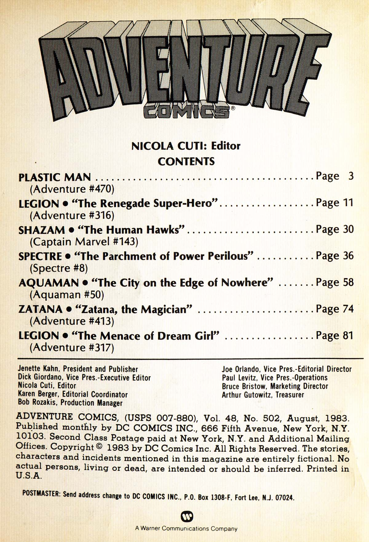Read online Adventure Comics (1938) comic -  Issue #502 - 2